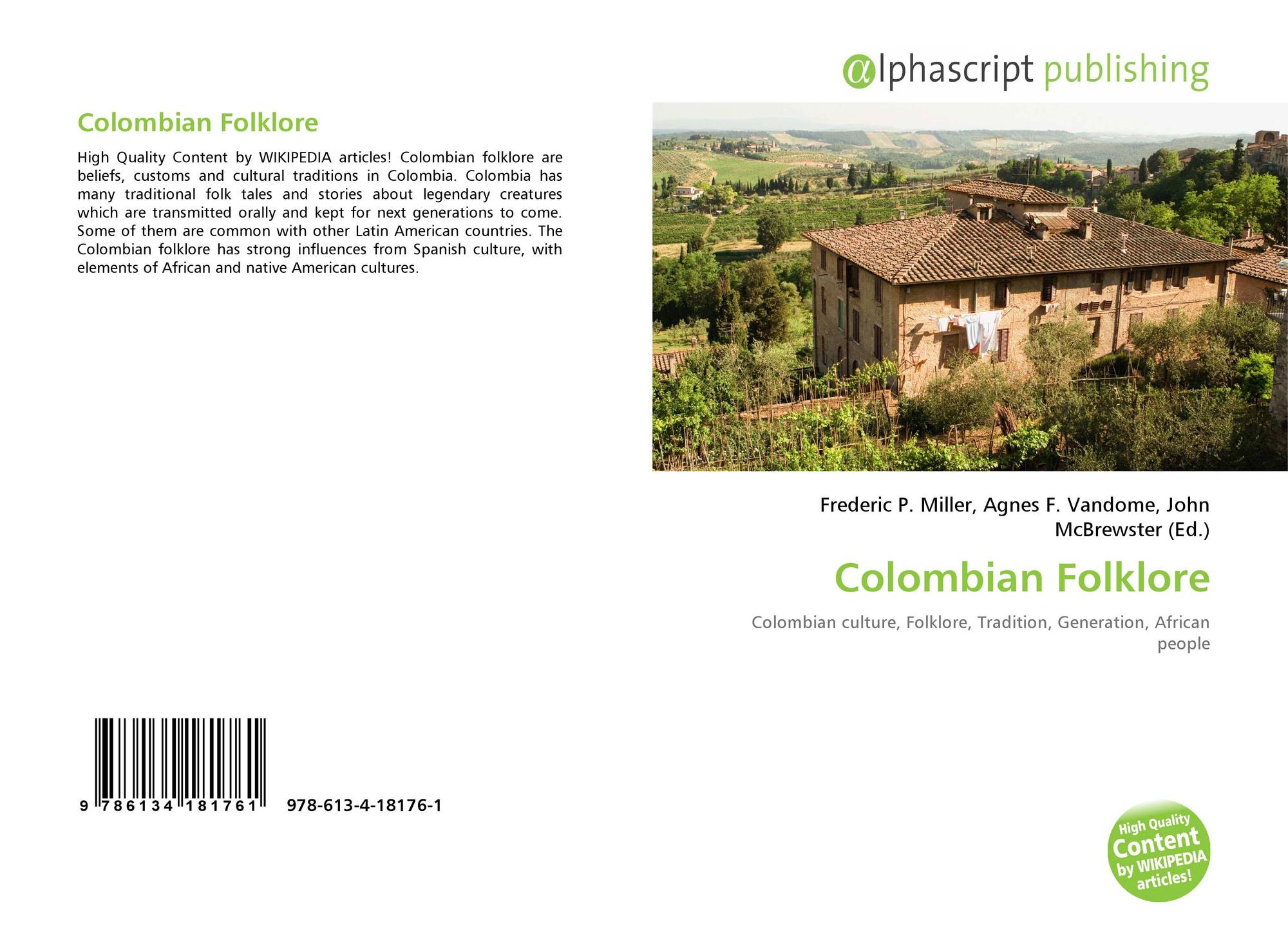 Colombian Folklore, 978-613-4-18176-1, 6134181765 ,9786134181761