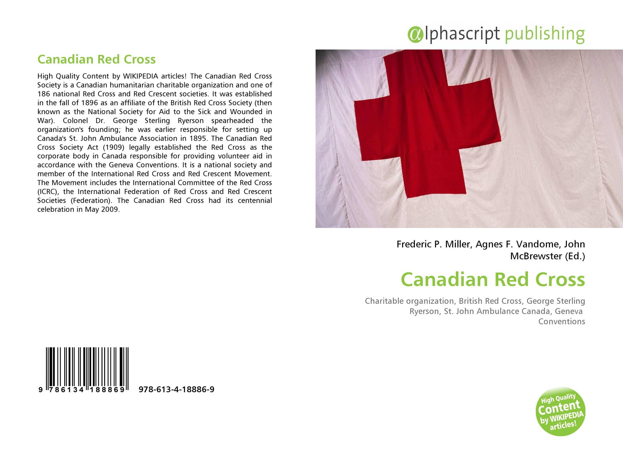 Canadian Red Cross 978 613 4 18886 9 6134188867 9786134188869
