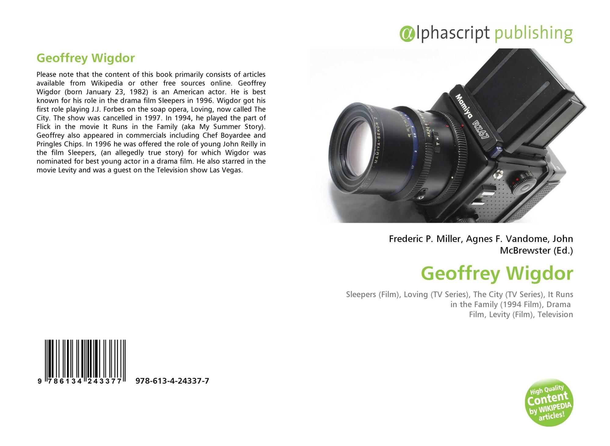 Geoffrey Wigdor 978 613 4 24337 7 613424337x 9786134243377