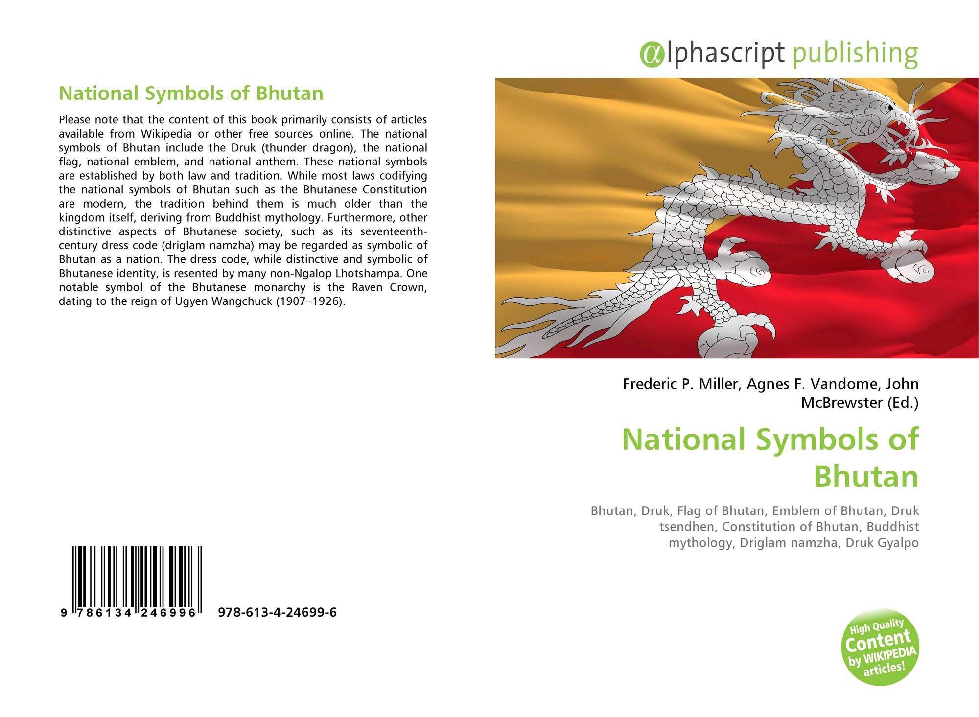National Symbols Of Bhutan 978 613 4 24699 6 6134246999 9786134246996