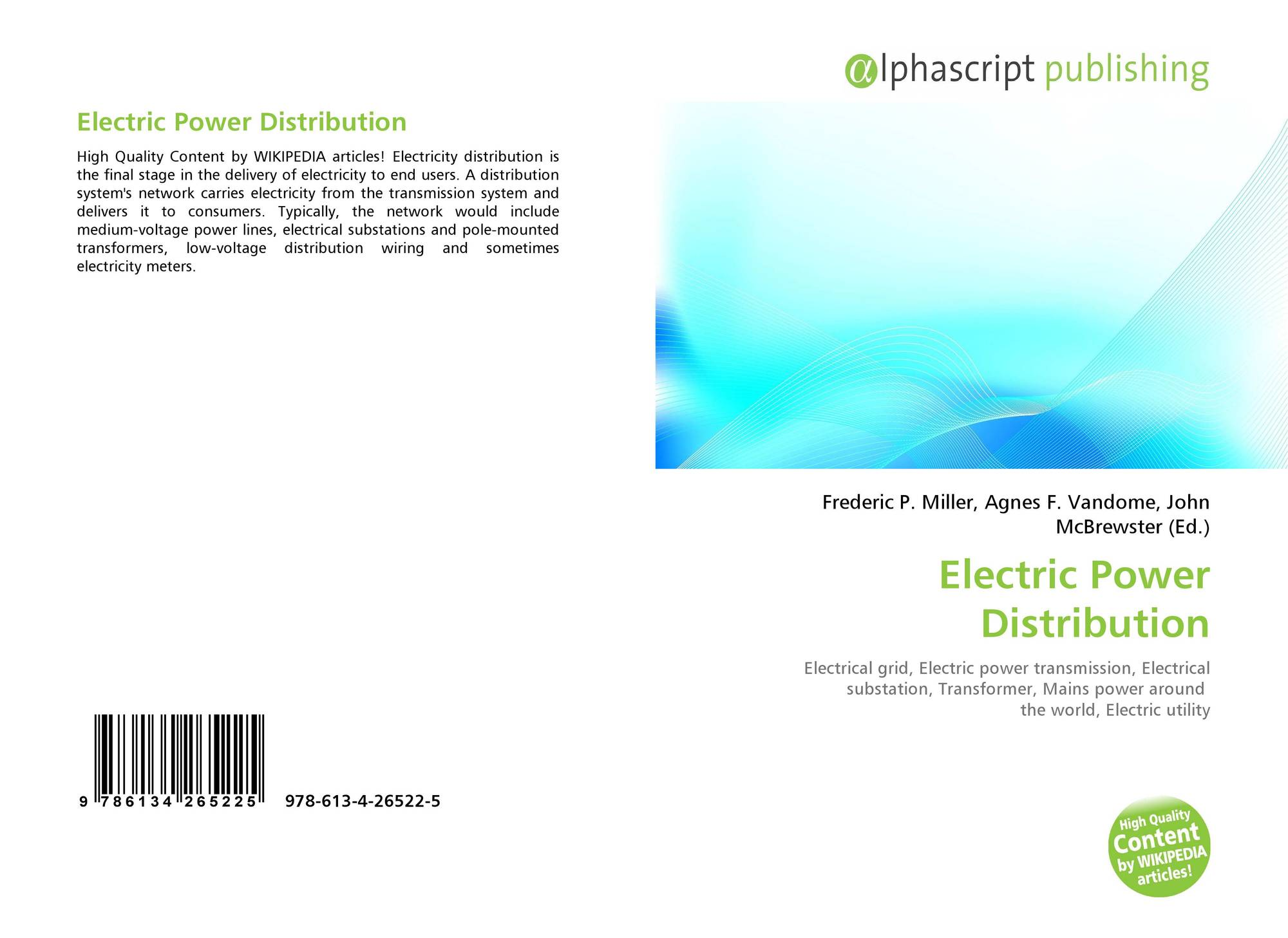 Electric Power Distribution, 978-613-4-26522-5, 6134265225