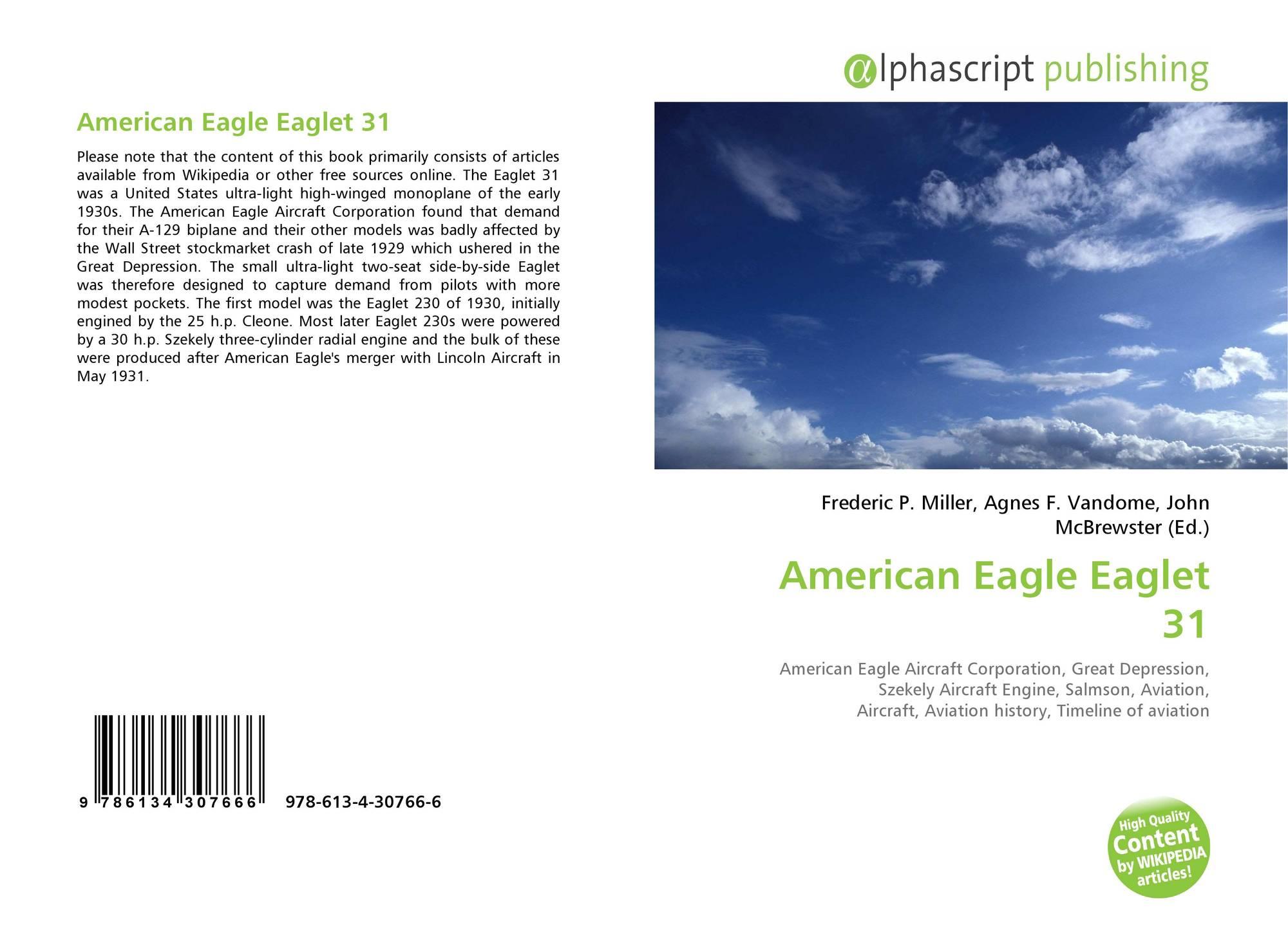 American Eagle Eaglet 31, 978-613-4-30766-6, 6134307661