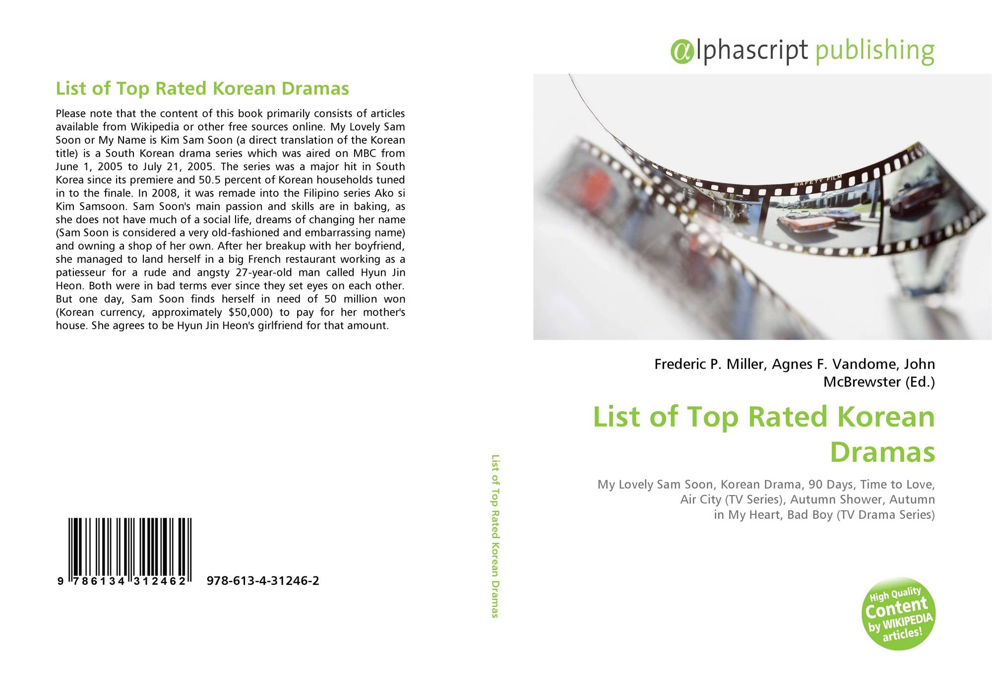 List of Top Rated Korean Dramas, 978-613-4-31246-2, 6134312460