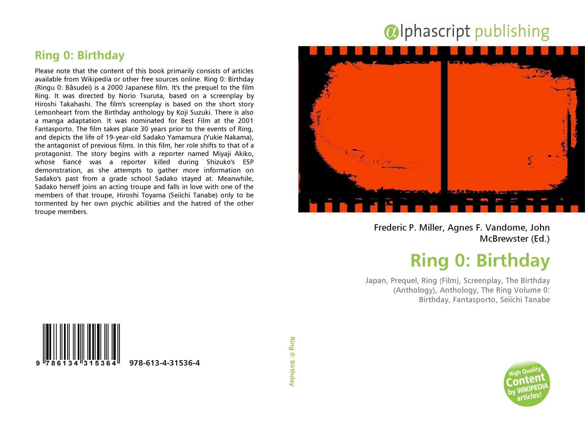 Ring 0: Birthday, 978-613-4-31536-4, 6134315362 ,9786134315364