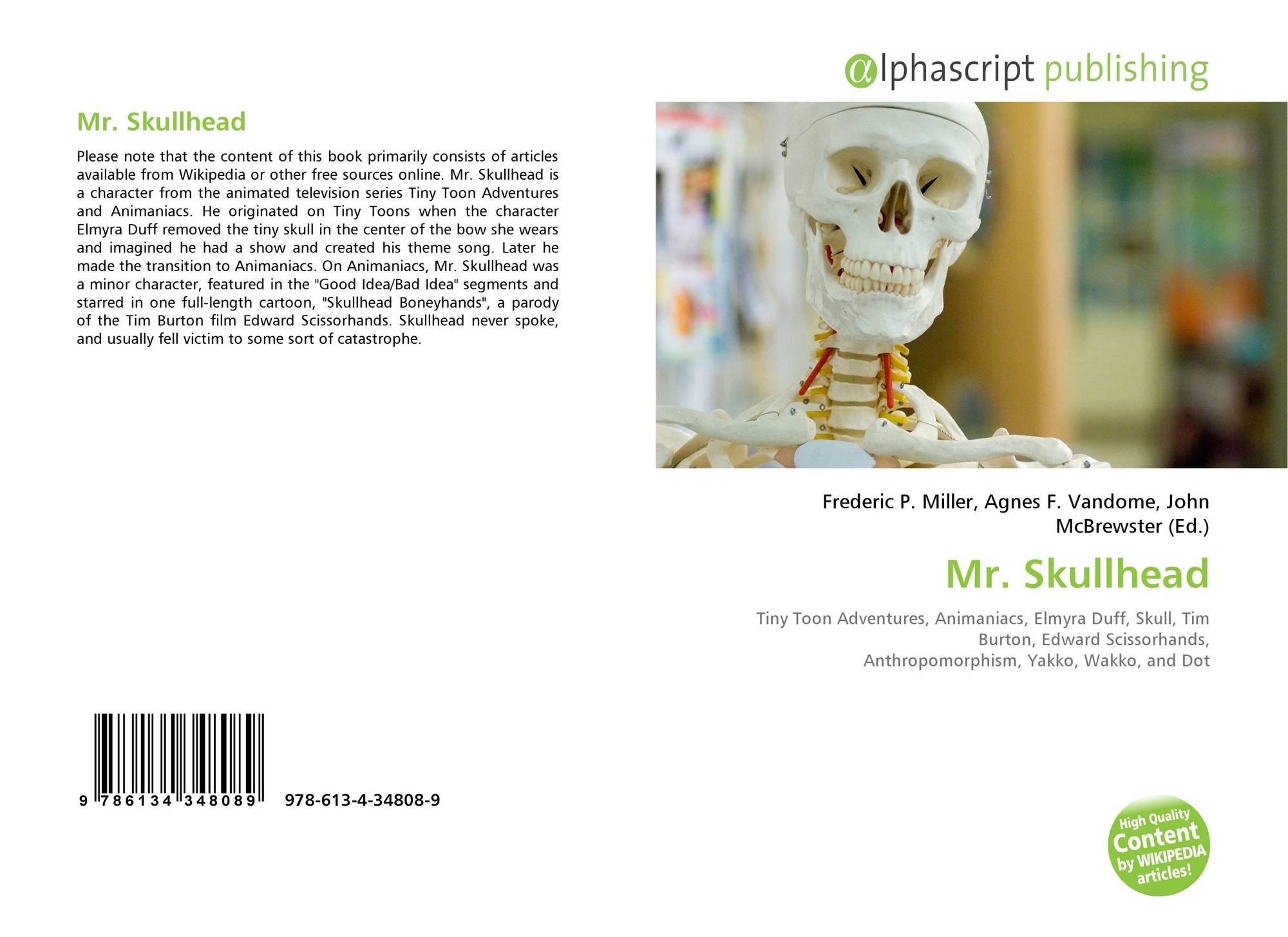 Animaniacs Elmyra Duff mr. skullhead, 978-613-4-34808-9, 6134348082 ,9786134348089