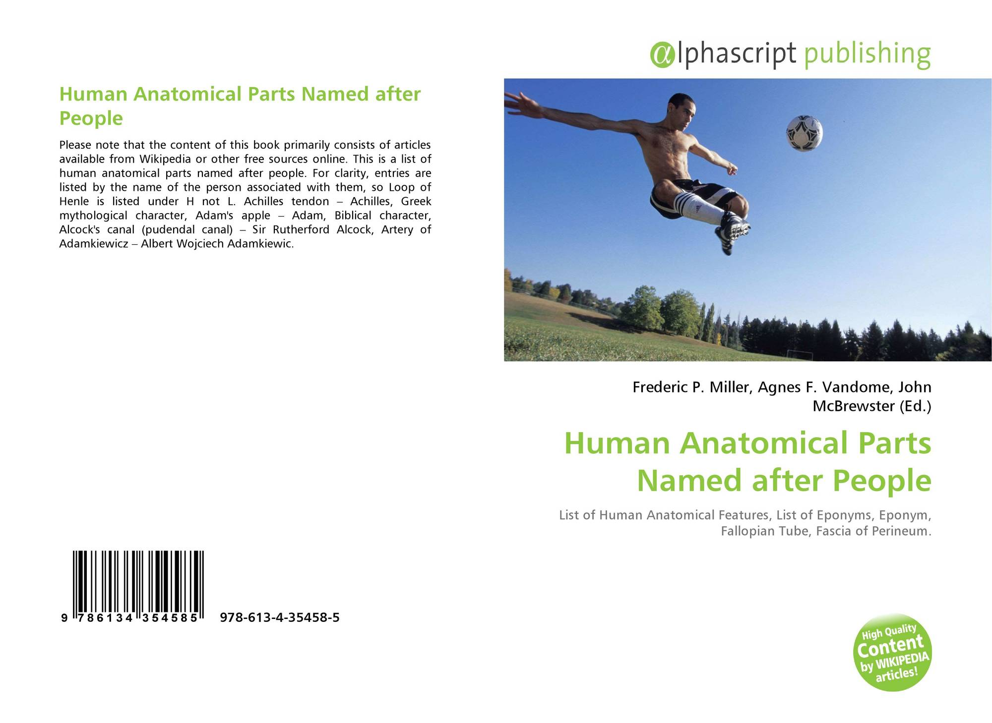 Human Anatomical Parts Named after People, 978-613-4-35458-5 ...