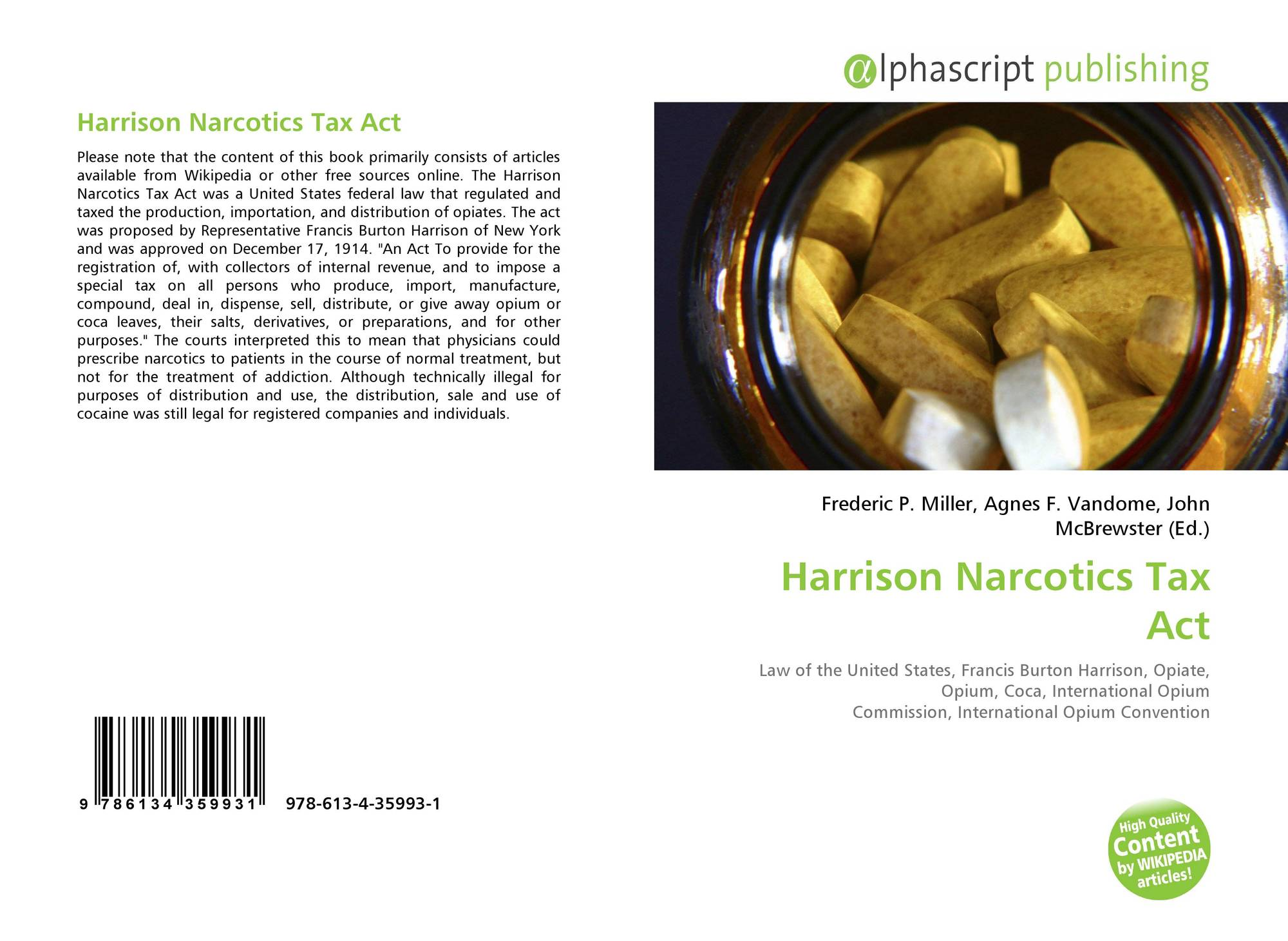 history of the harrison narcotic act
