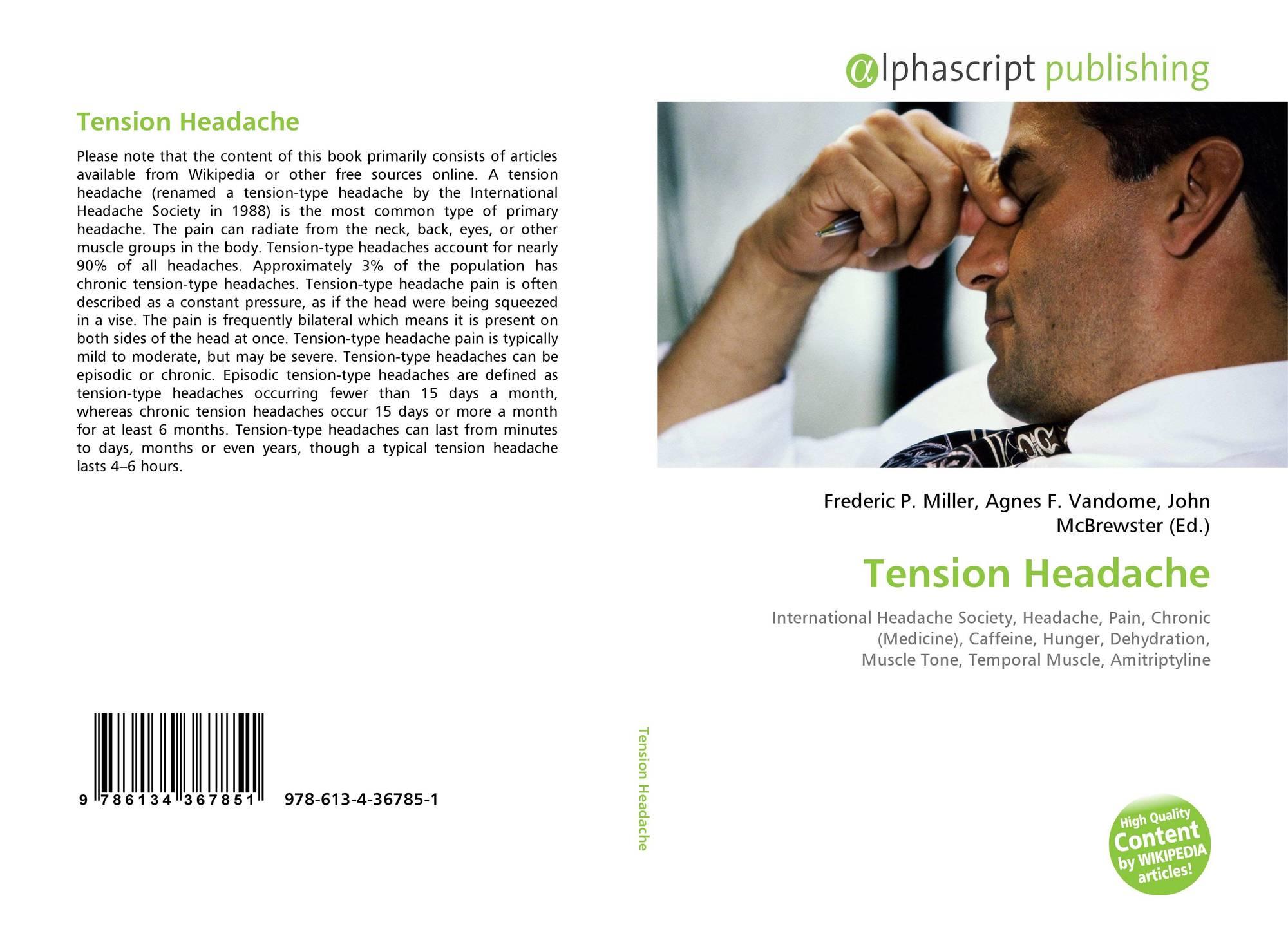 Tension Headache, 978-613-4-36785-1, 6134367850 ,9786134367851