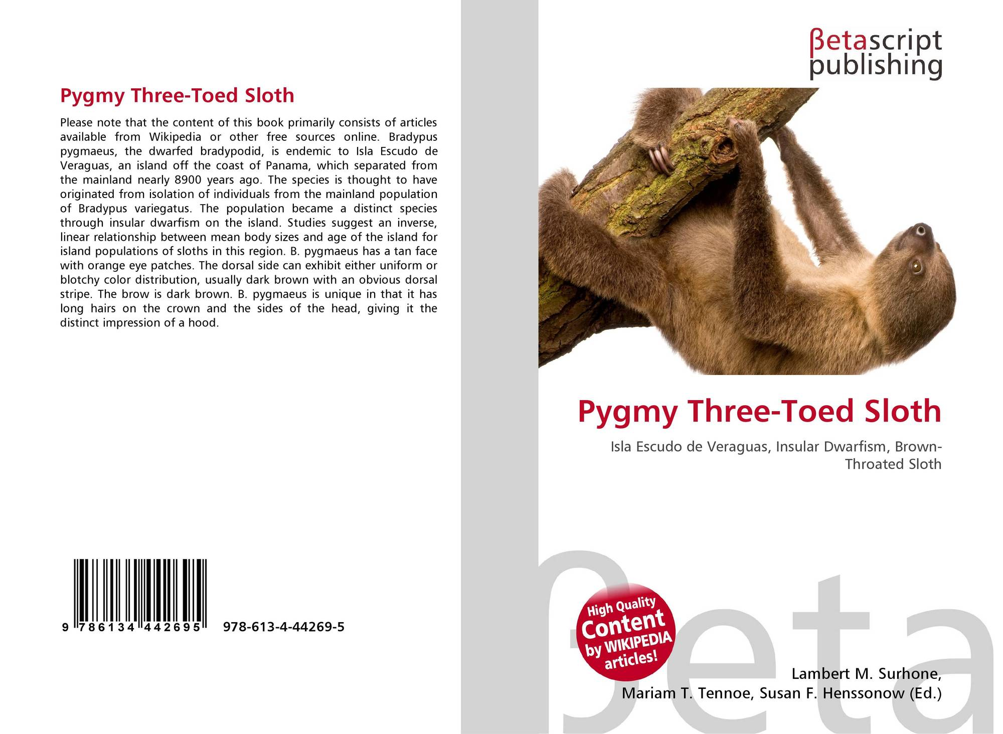 pygmy three toed sloth analysis