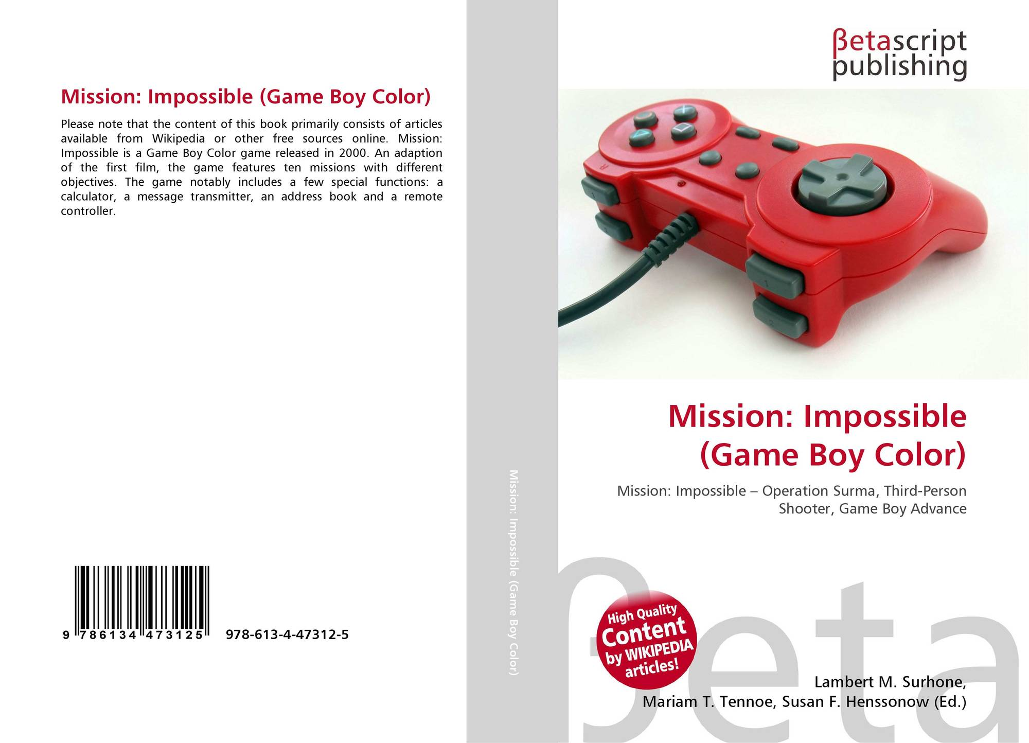 Game boy color online free - Bookcover Of Mission Impossible Game Boy Color Omni Badge 9307e2201e5f762643a64561af3456be64a87707602f96b92ef18a9bbcada116