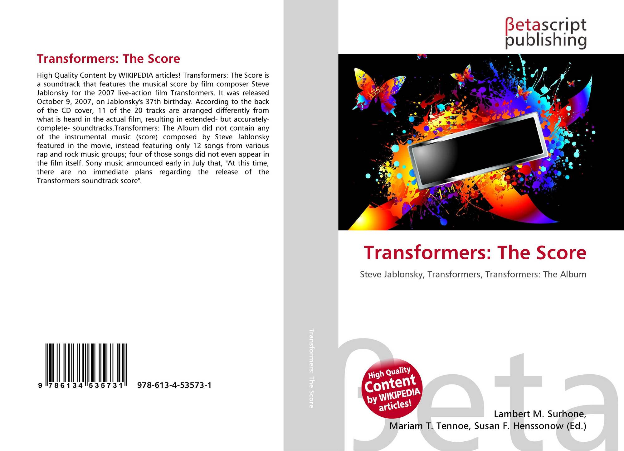Bookcover of Transformers: The Score