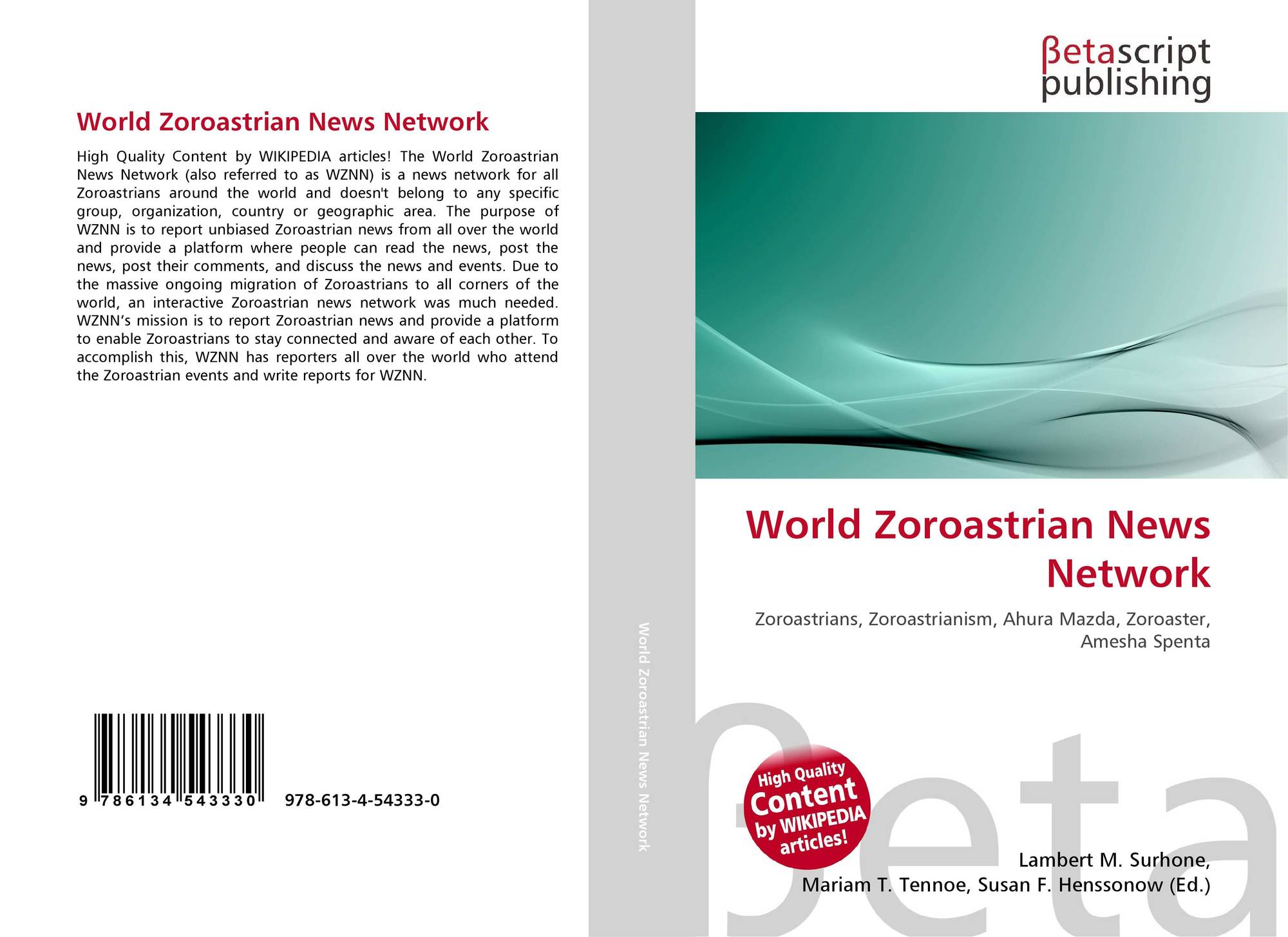 Bookcover of world zoroastrian news network