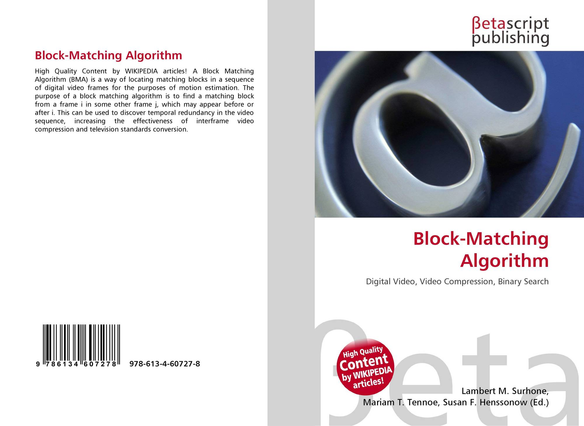 Bookcover of Block-Matching Algorithm