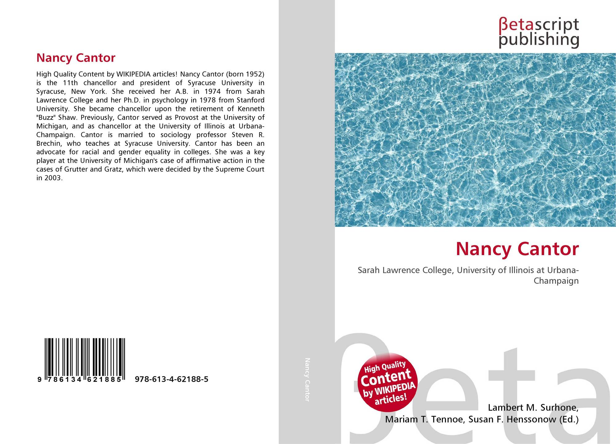 nancy cantor affirmative action and higher education