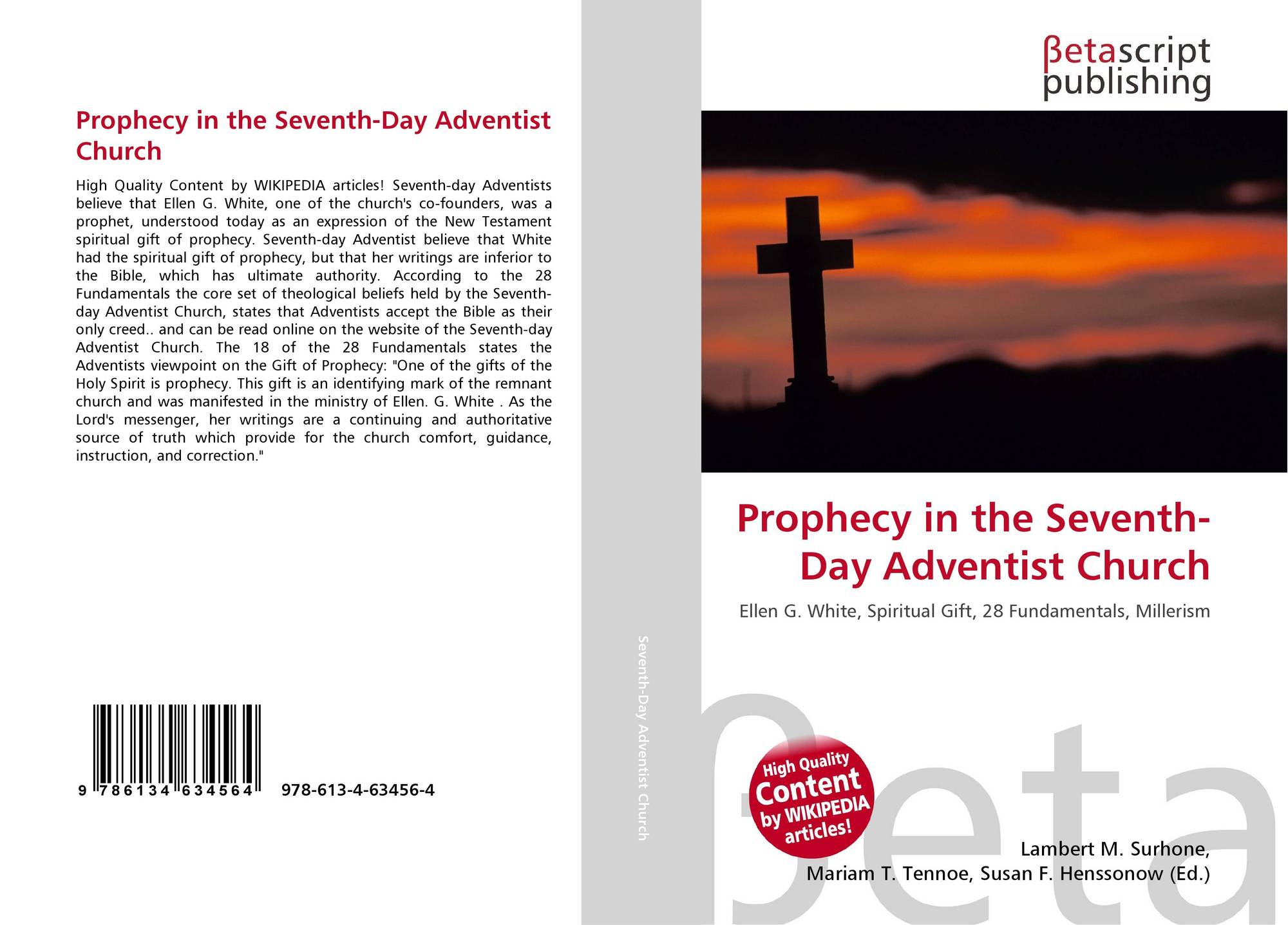 Search results for seventh day adventist church bookcover of prophecy in the seventh day adventist church biocorpaavc