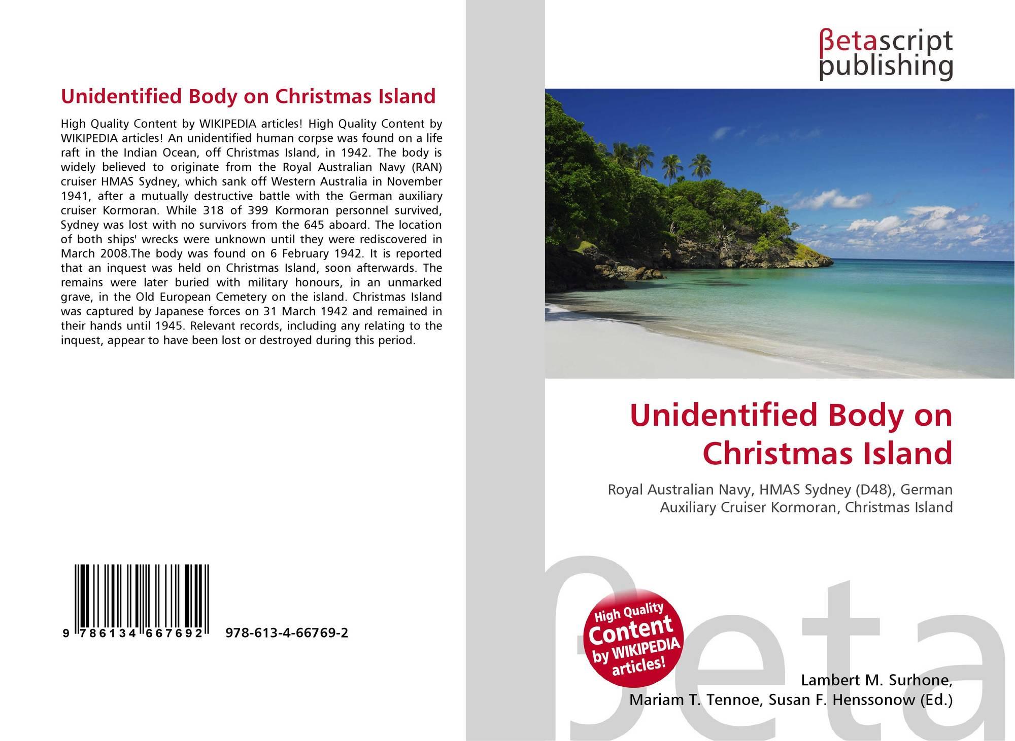 Unidentified Body on Christmas Island, 978-613-4-66769-2, 6134667692 ...