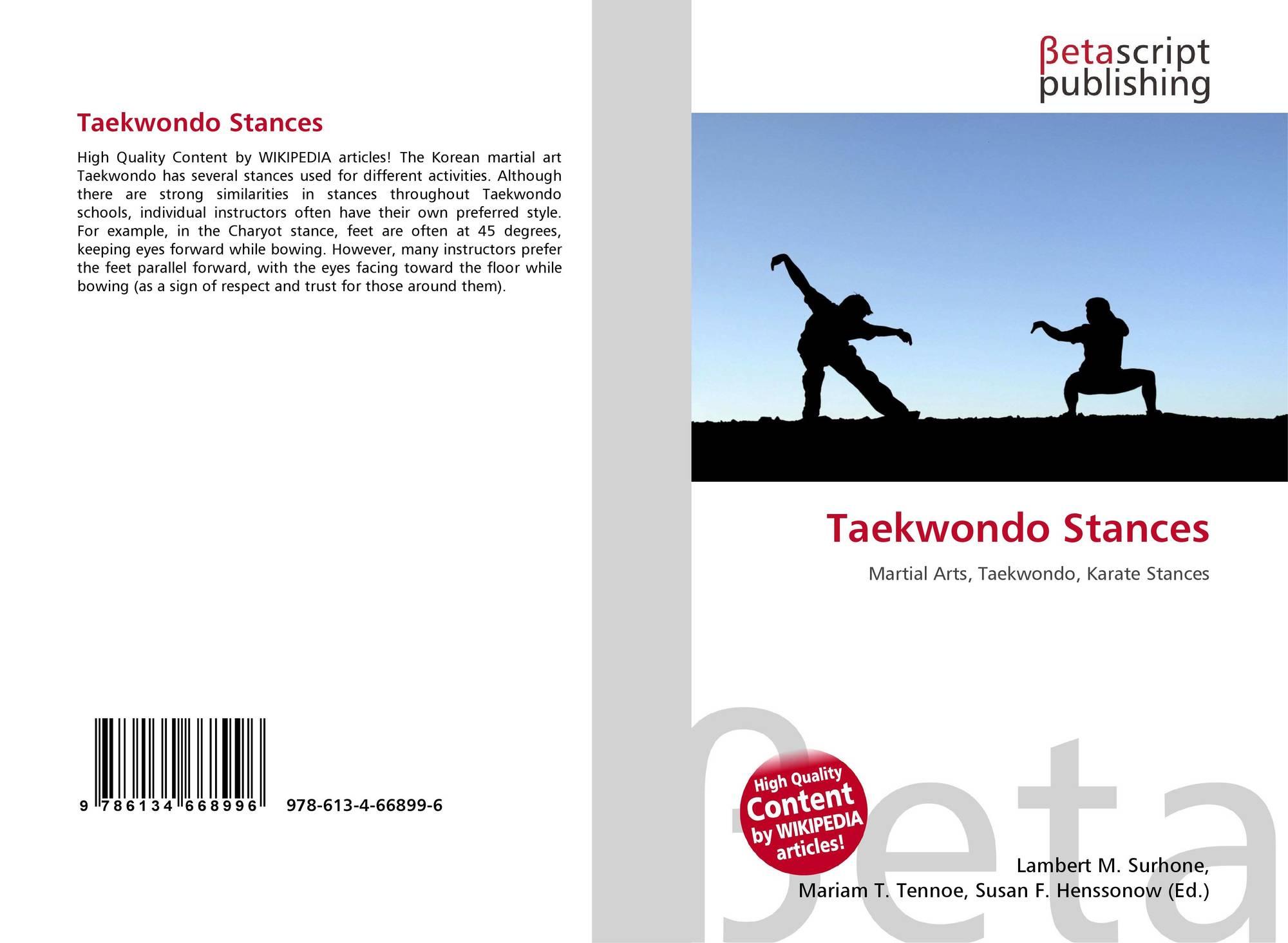 Taekwondo Stances 978 613 4 66899 6 6134668990 9786134668996