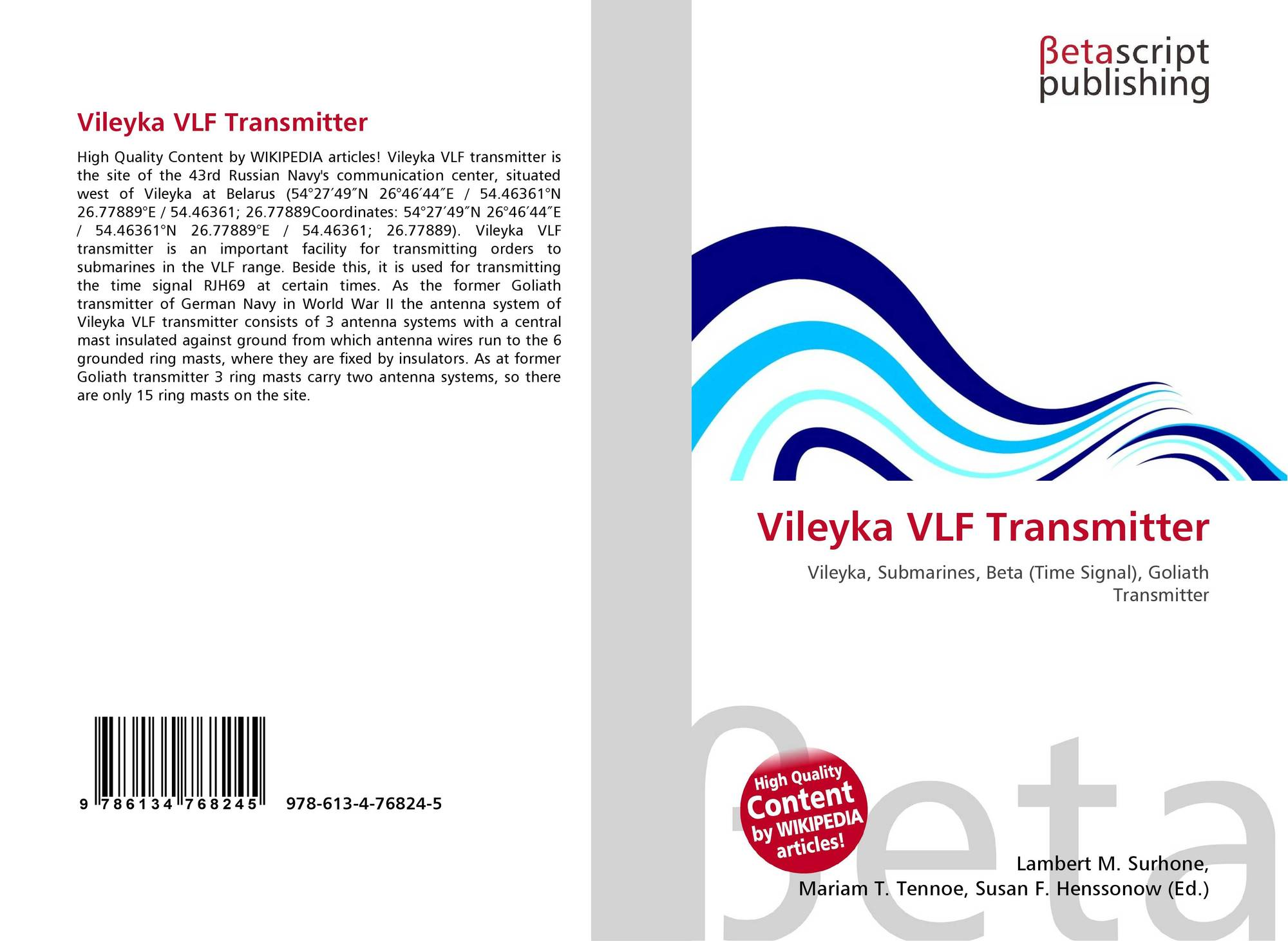 Vileyka VLF Transmitter, 978-613-4-76824-5, 6134768243