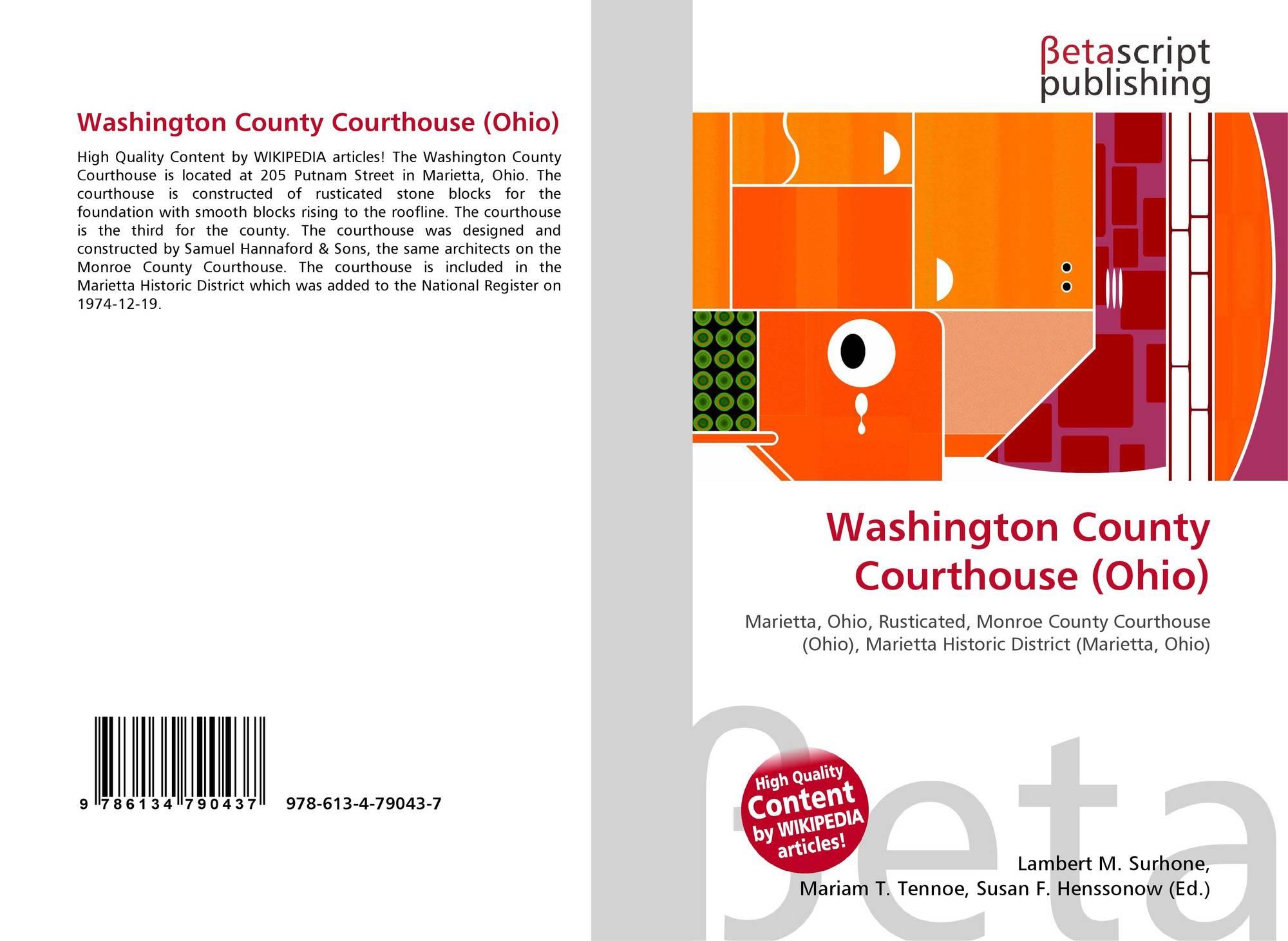 Washington County Courthouse (Ohio), 978-613-4-79043-7, 6134790435