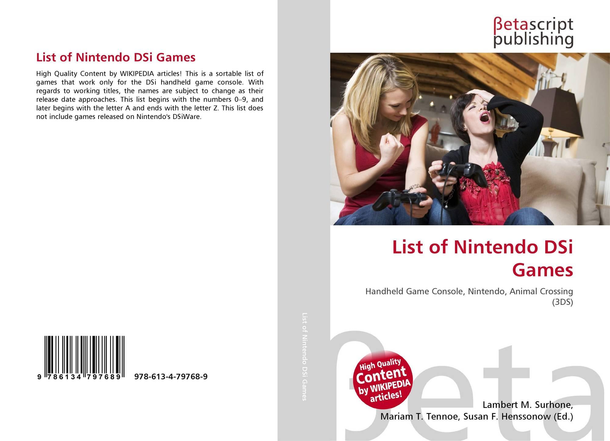 List of Nintendo DSi Games, 978-613-4-79768-9, 6134797685