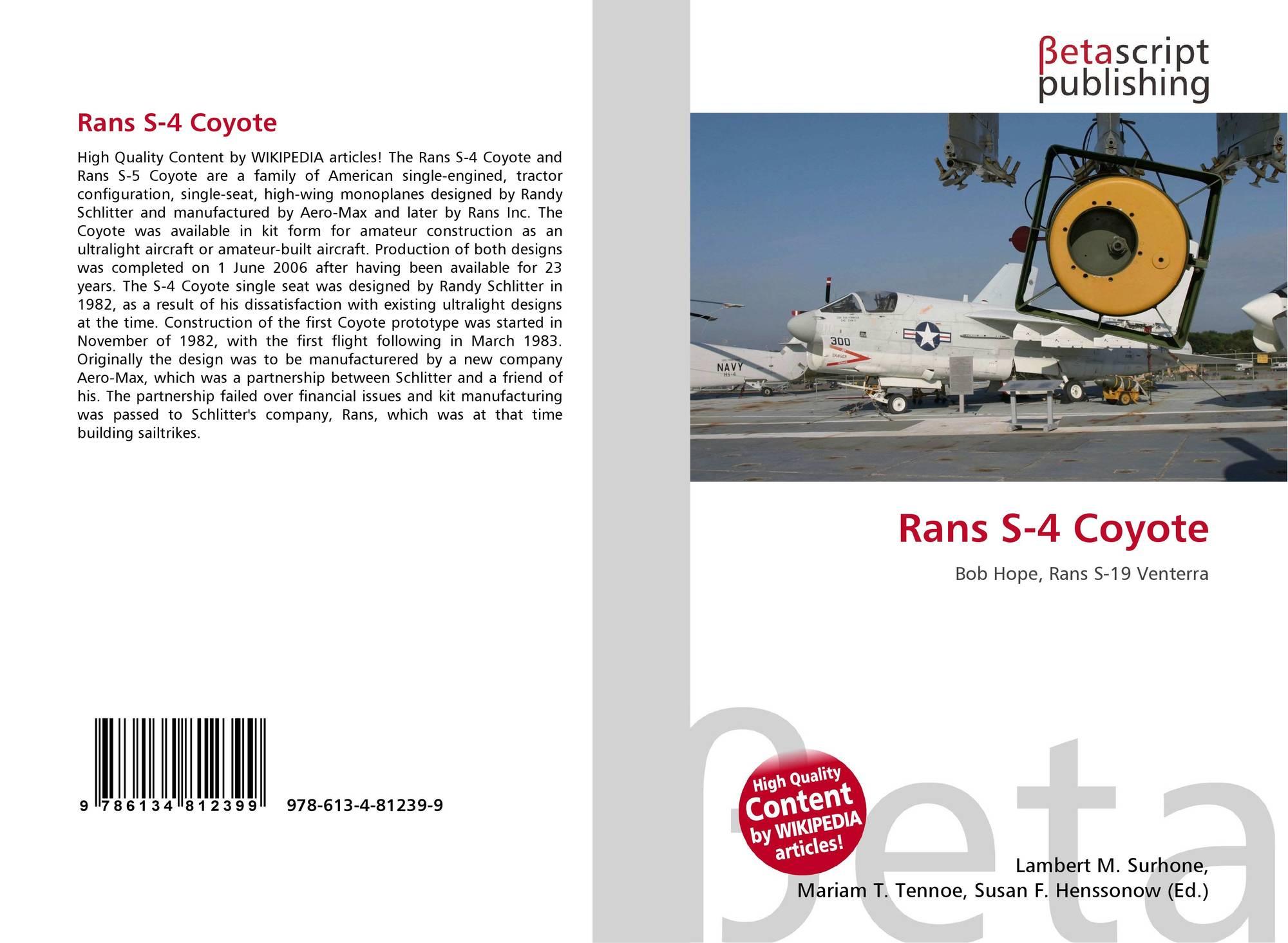 Rans S-4 Coyote, 978-613-4-81239-9, 6134812390 ,9786134812399