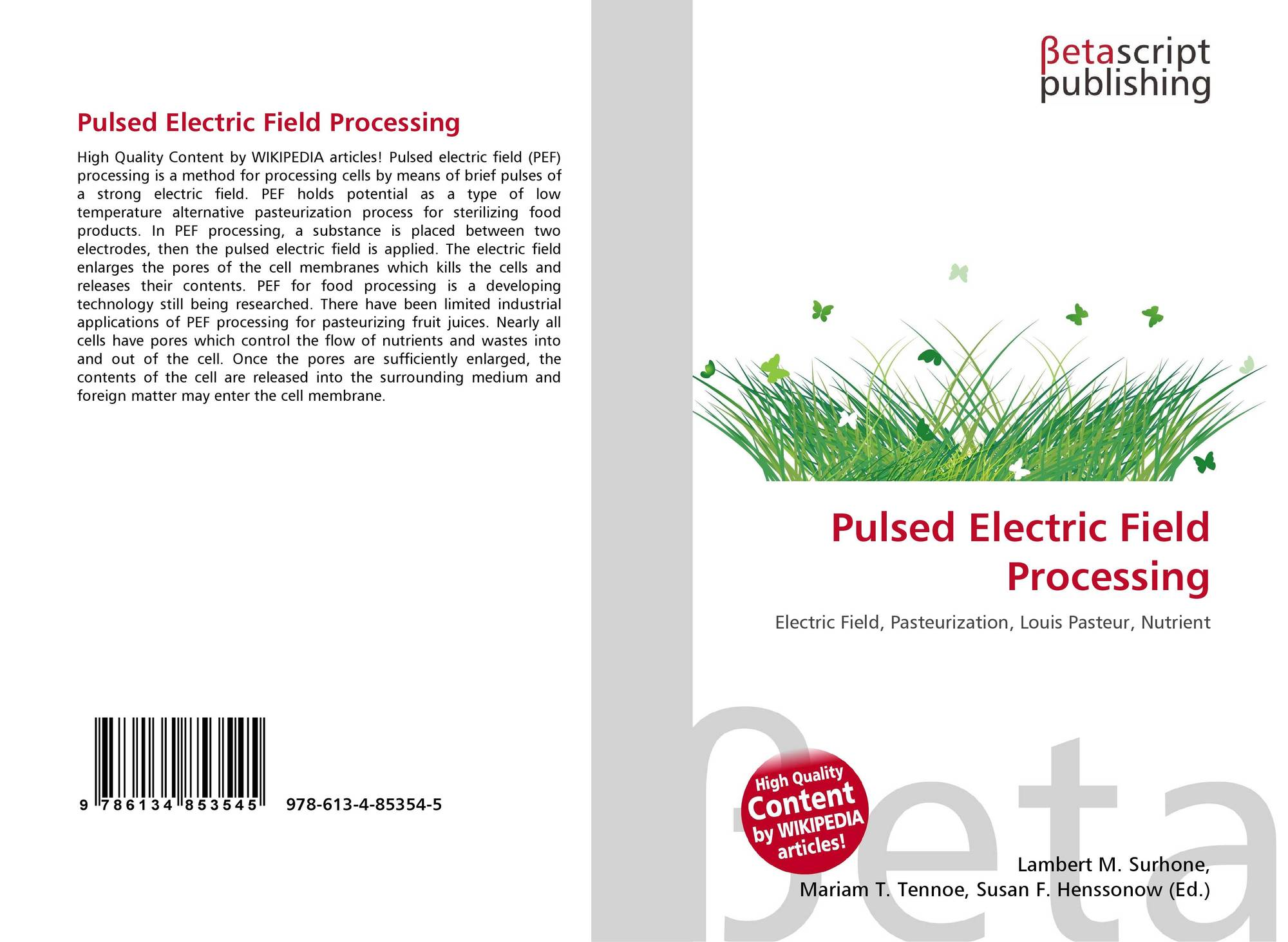 pulsed electric field processing