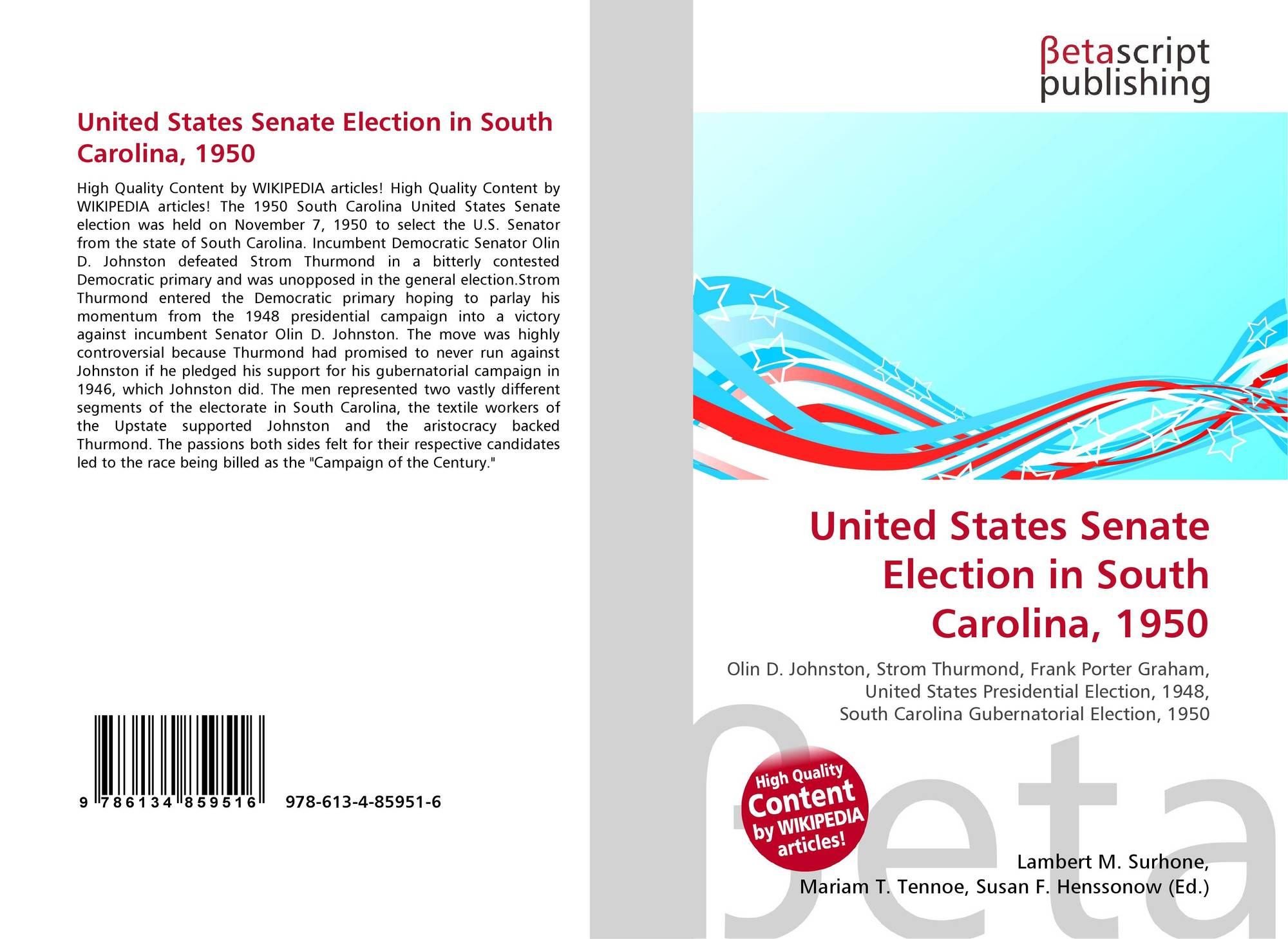1950 United States Senate election in South Carolina