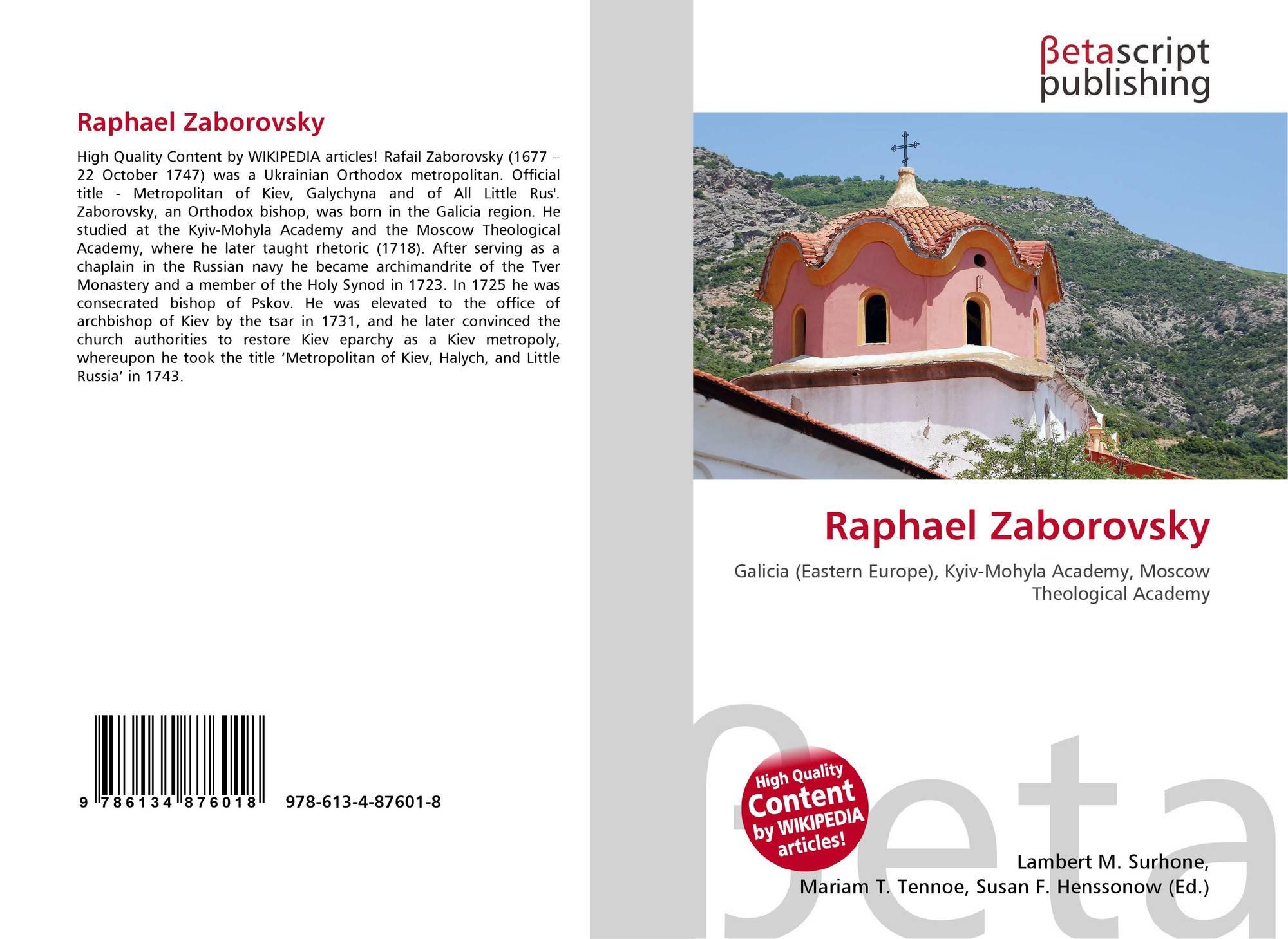 Raphael Zaborovsky, 978-613-4-87601-8, 6134876011 ,9786134876018