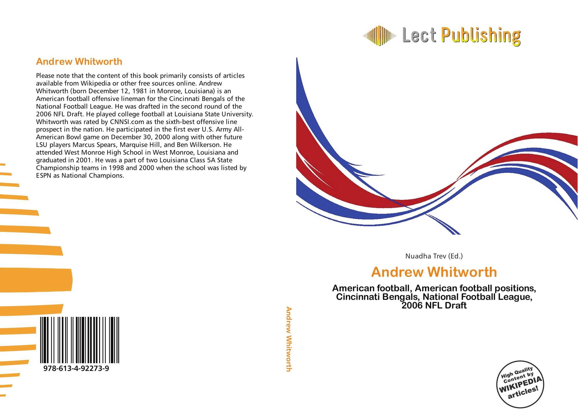 8e9328ae4 Bookcover of Andrew Whitworth. 9786134922739
