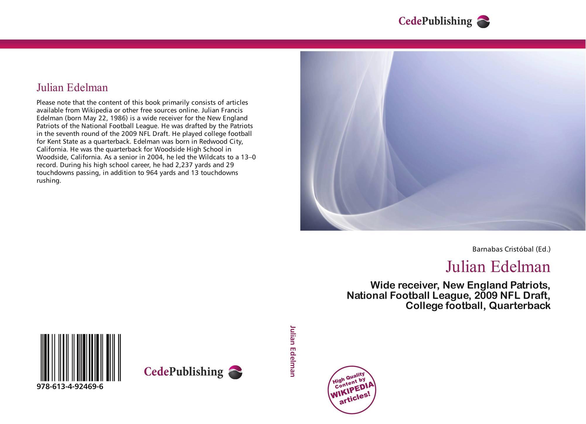 Julian Edelman 978 613 4 92469 6 6134924695 9786134924696