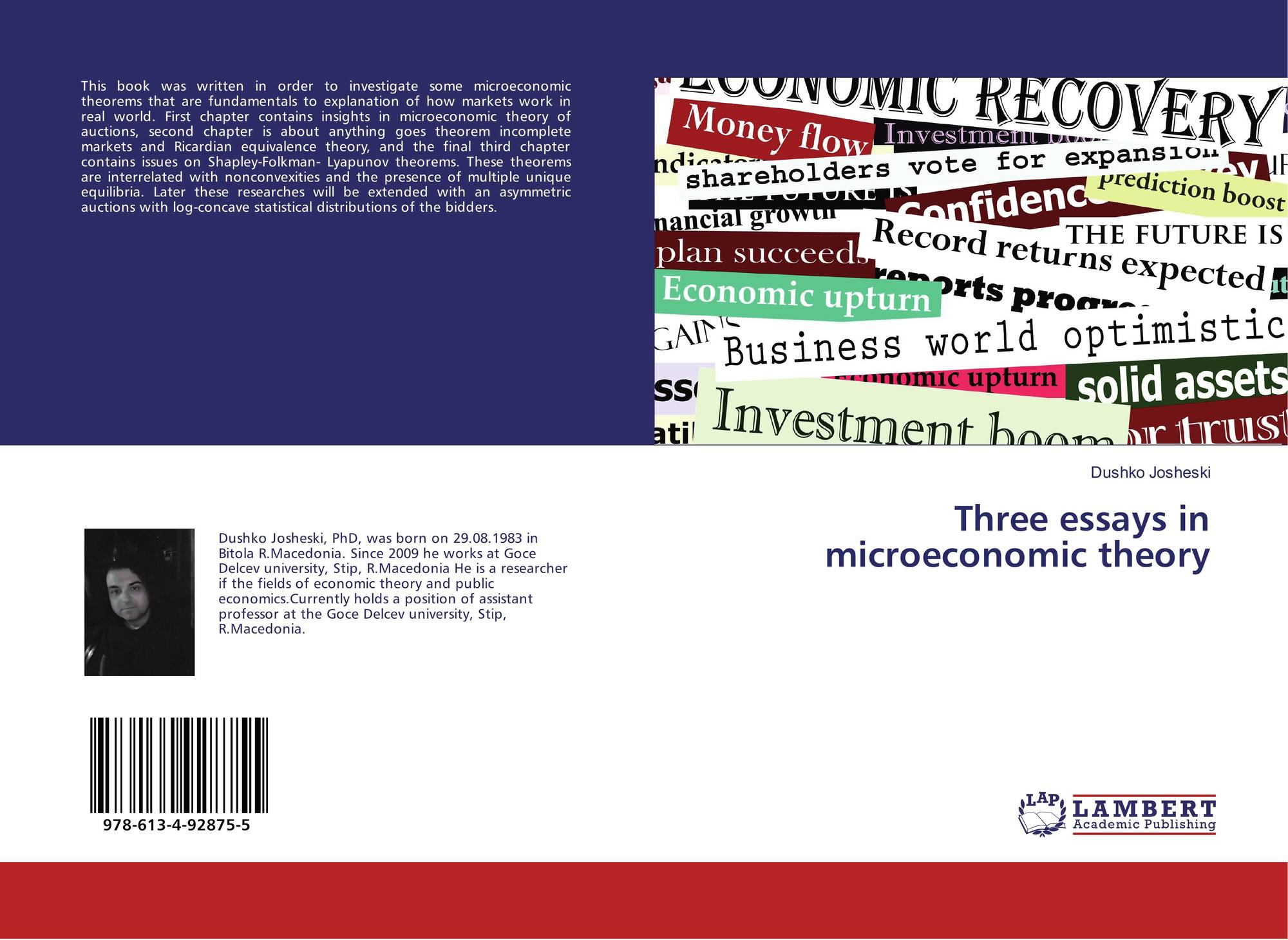 microeconomic theory essay Pack 2 - microeconomics  theory of firm - essay question 1 (a) explain why  only normal profit may be earned in the long run in perfect competition.