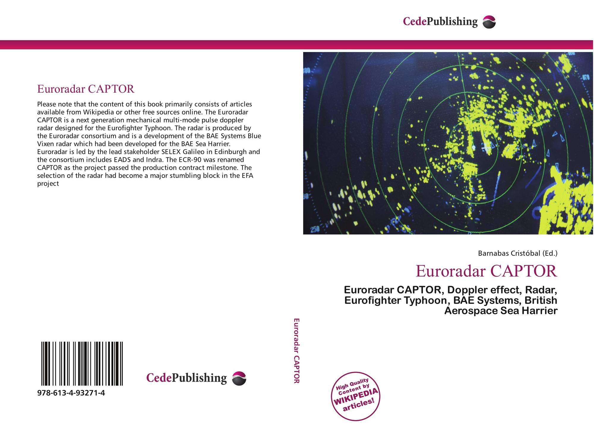Euroradar CAPTOR, 978-613-4-93271-4, 613493271X ,9786134932714