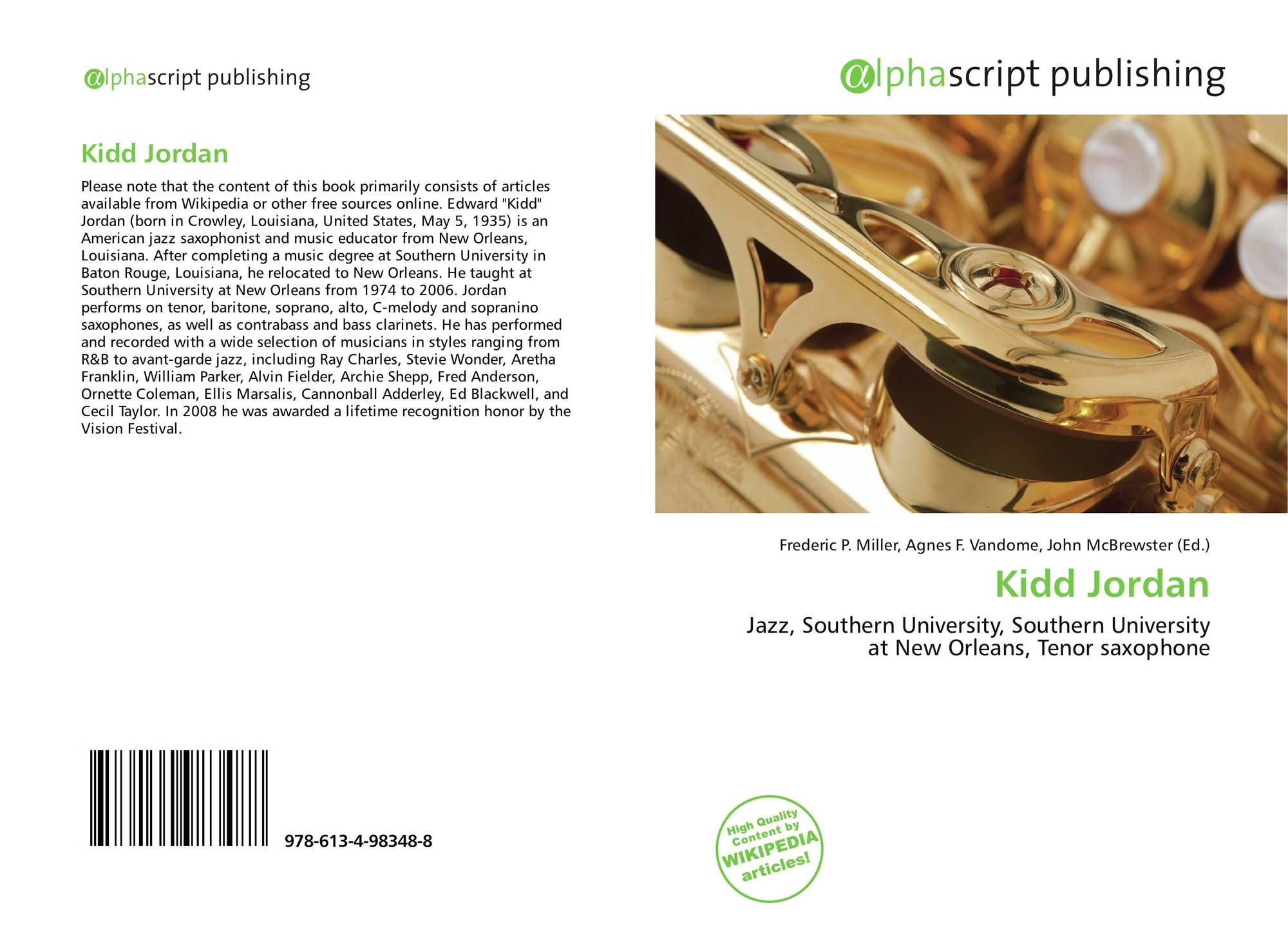 Kidd Jordan, 978-613-4-98348-8, 6134983489 ,9786134983488