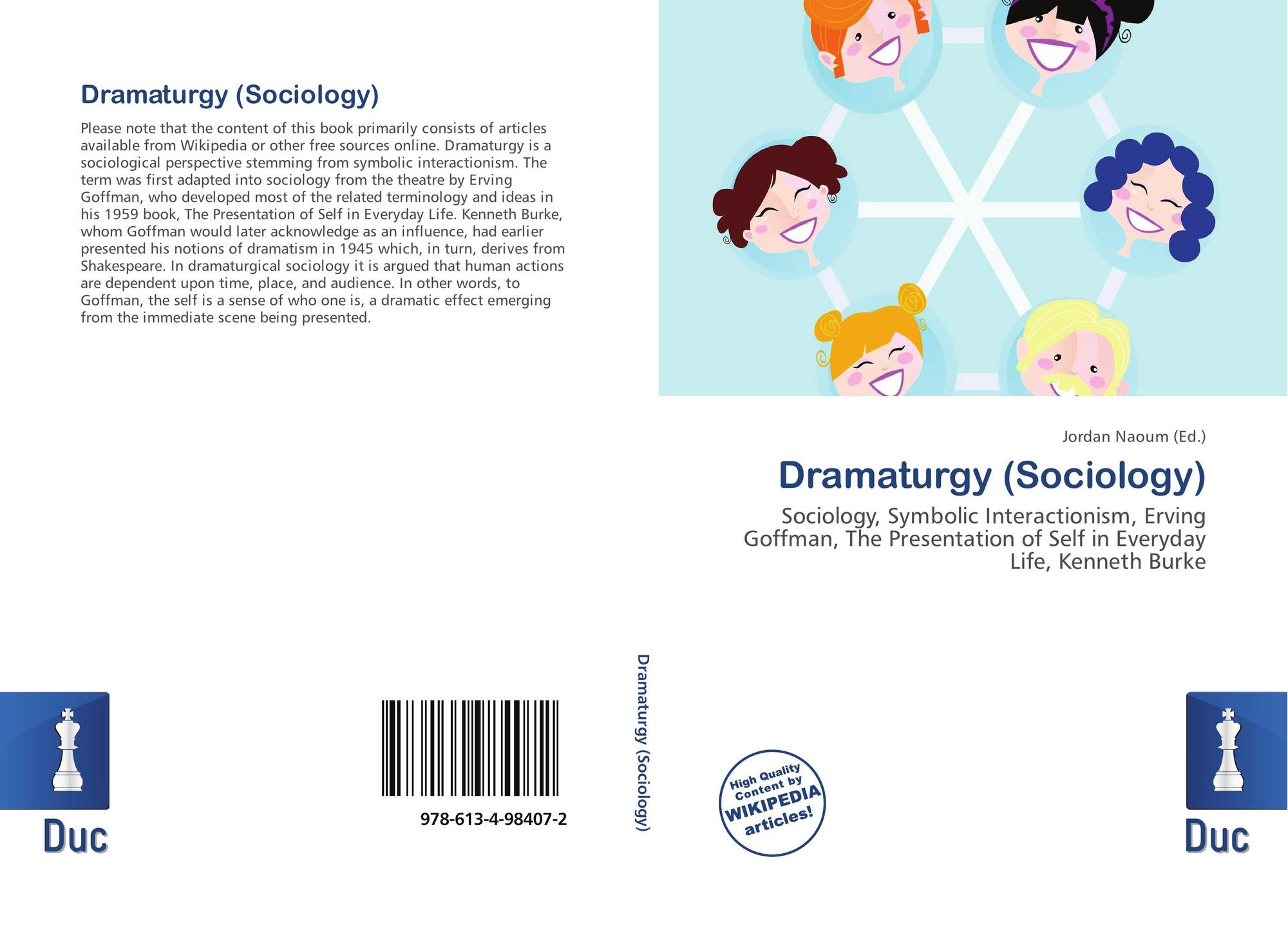 Dramaturgy Sociology 978 613 4 98407 2 6134984078 9786134984072