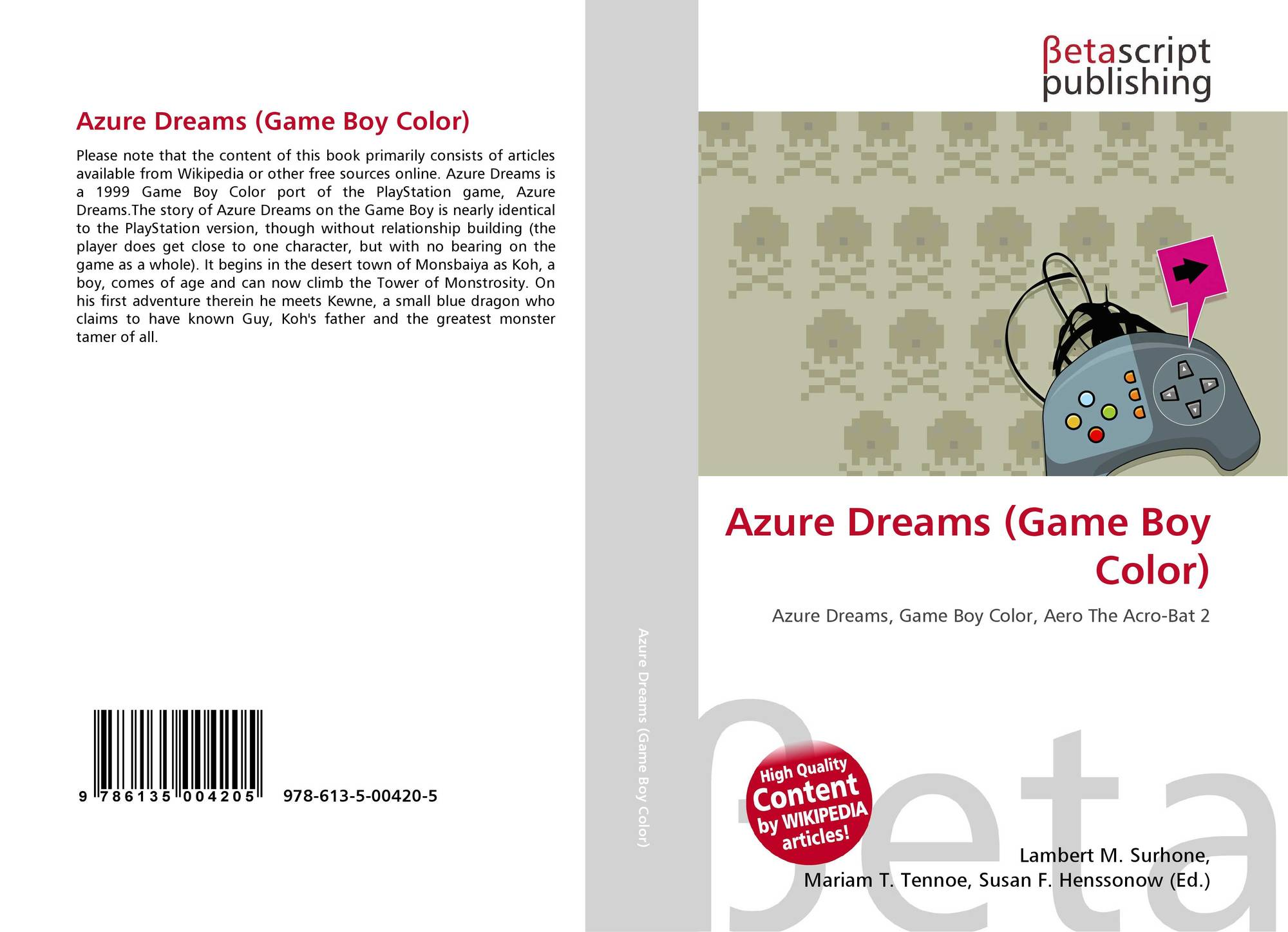 Game boy color list - Bookcover Of Azure Dreams Game Boy Color