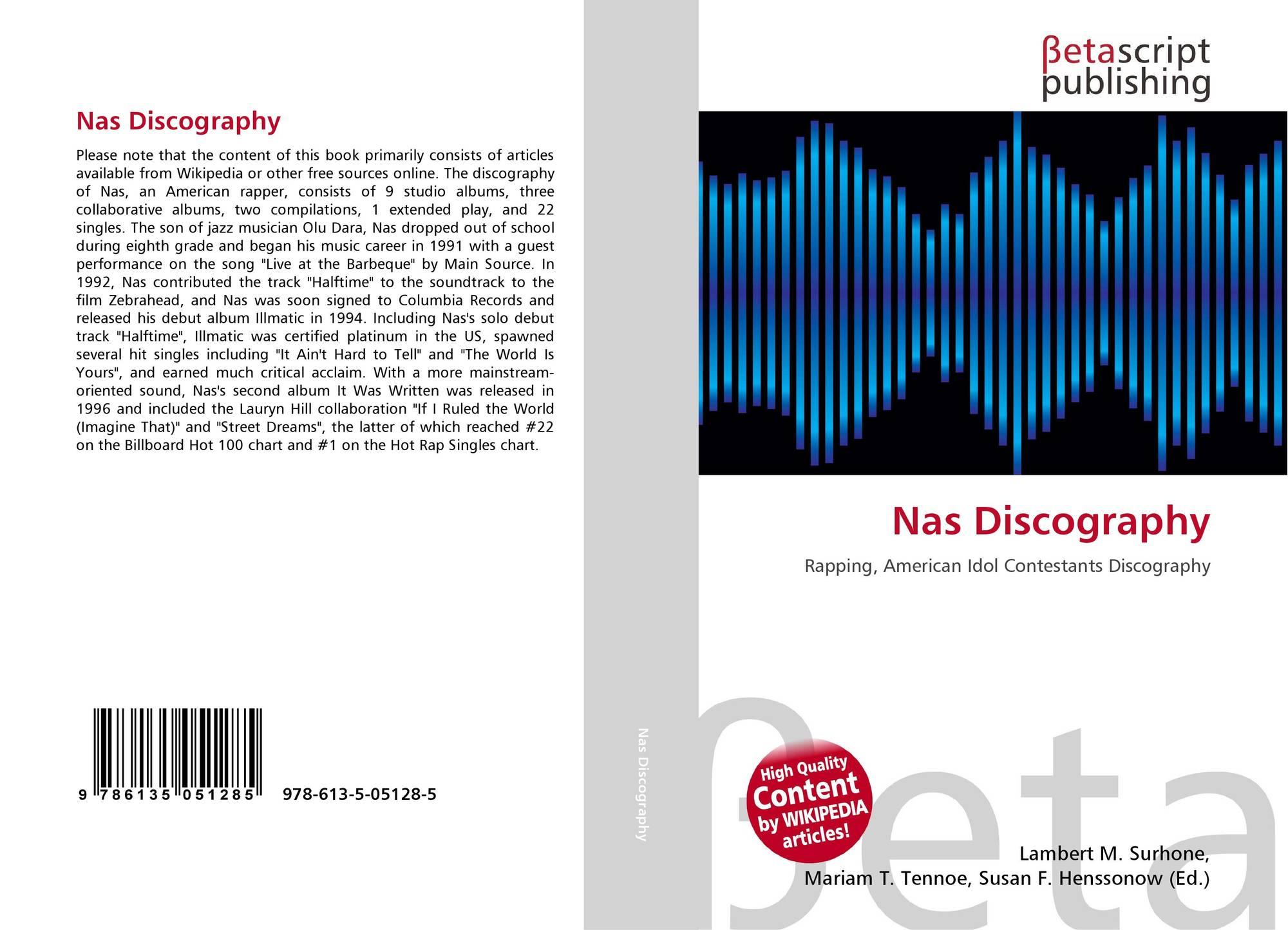 Nas Discography, 978-613-5-05128-5, 6135051288 ,9786135051285