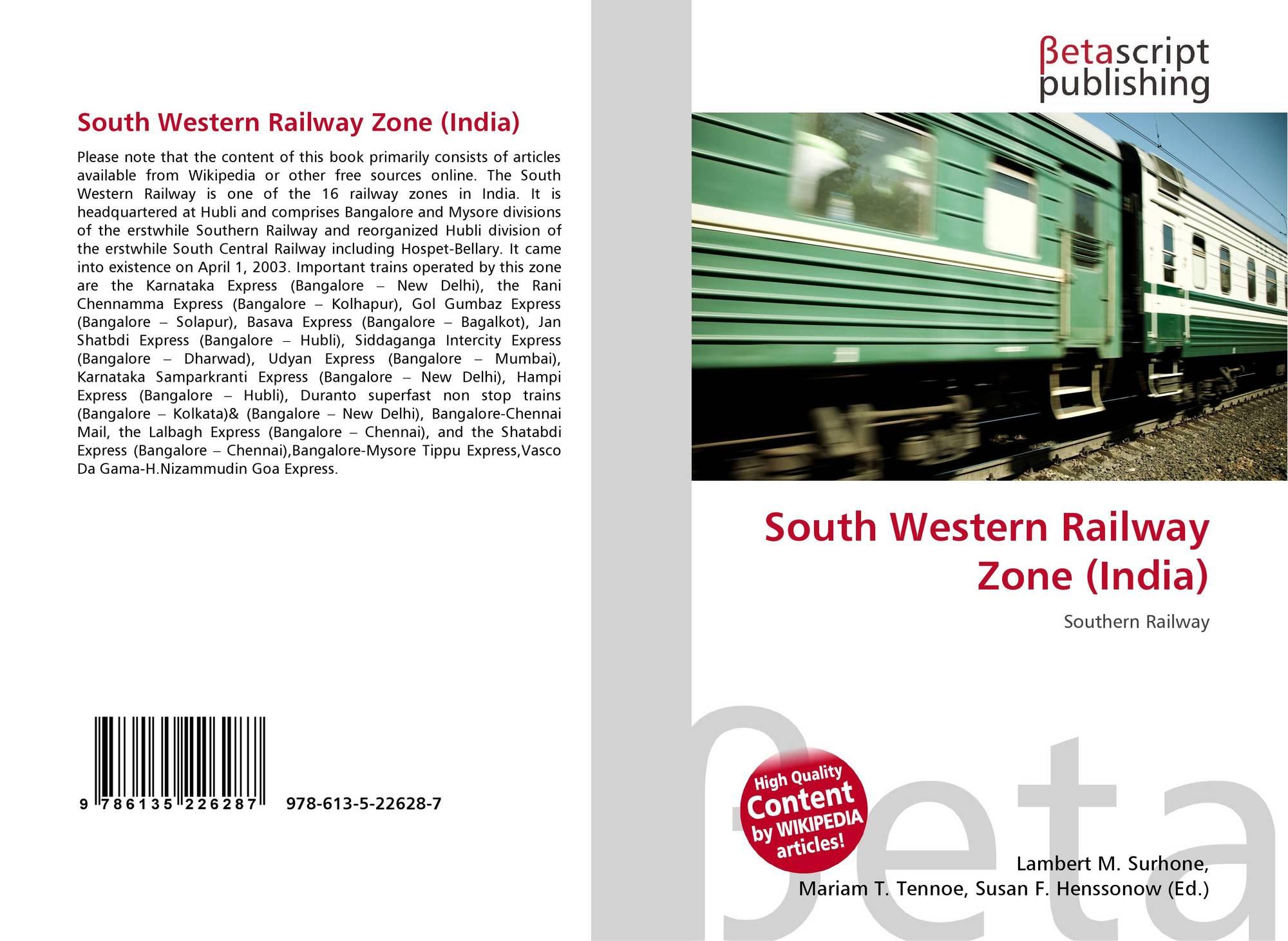 South Western Railway Zone (India), 978-613-5-22628-7