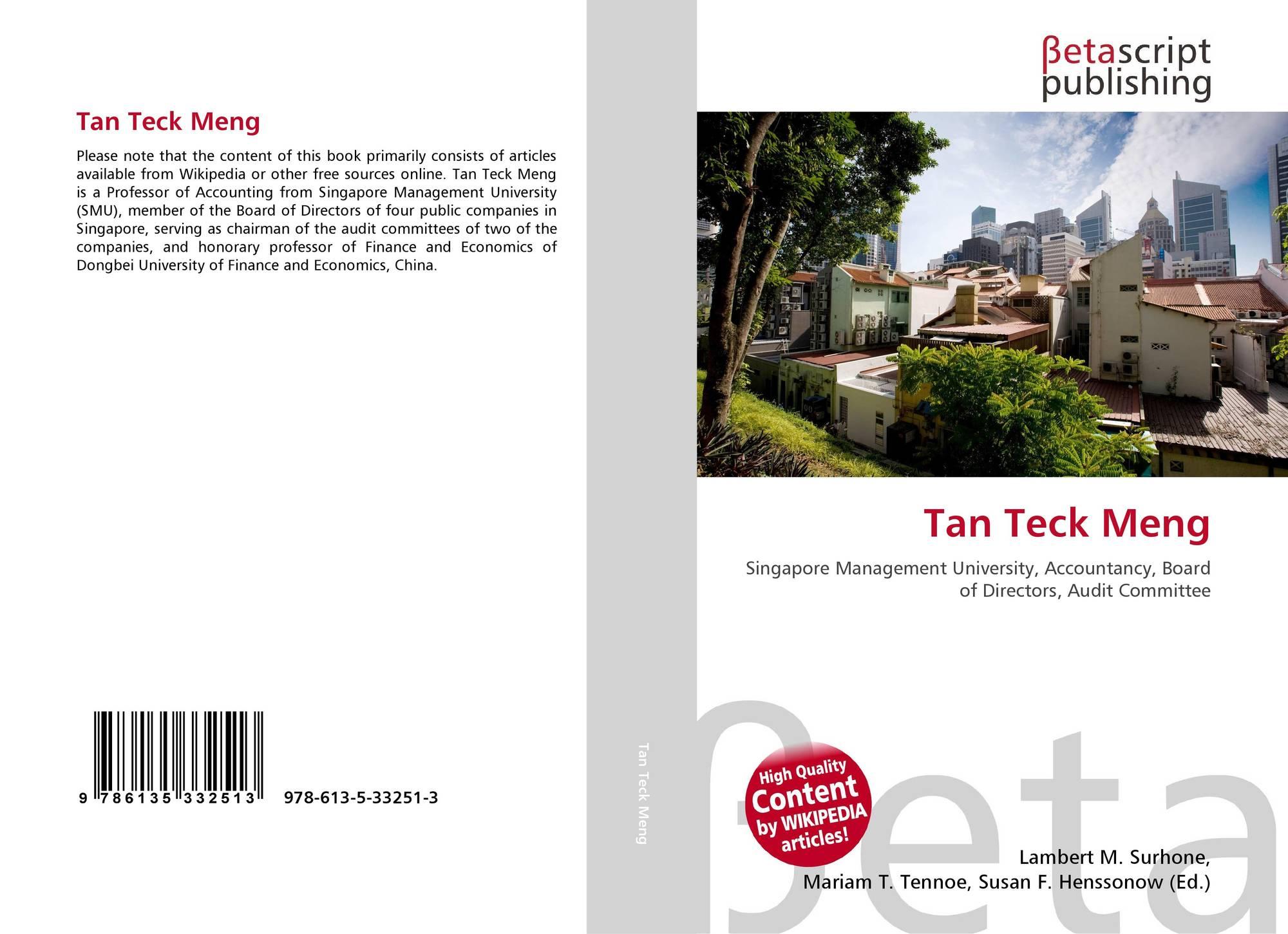 Tan Teck Meng, 978-613-5-33251-3, 6135332511 ,9786135332513