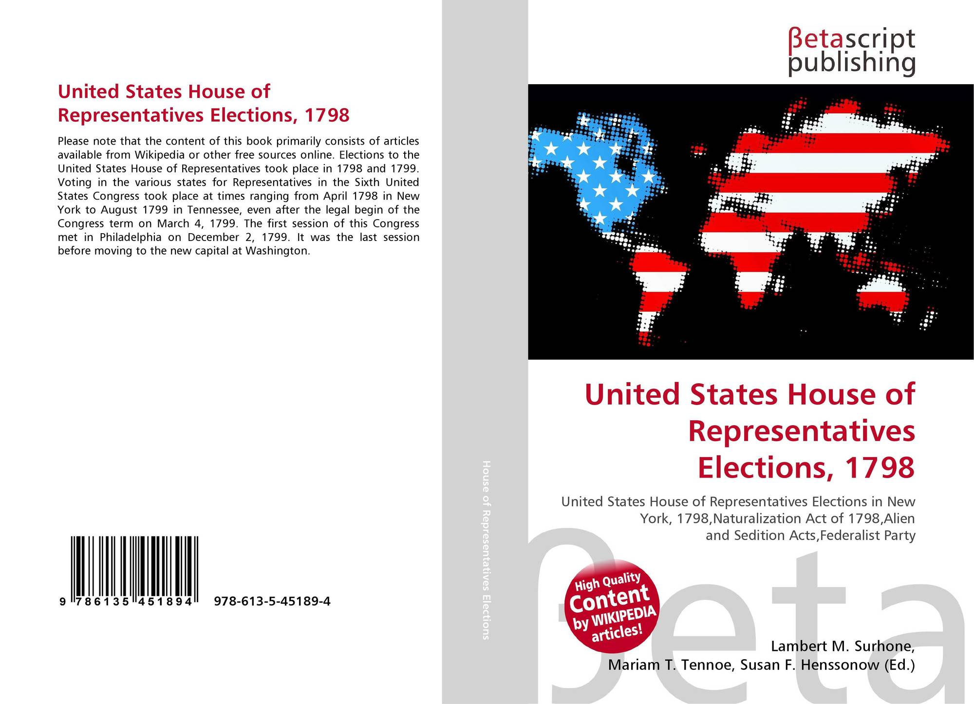 1798 and 1799 United States House of Representatives elections
