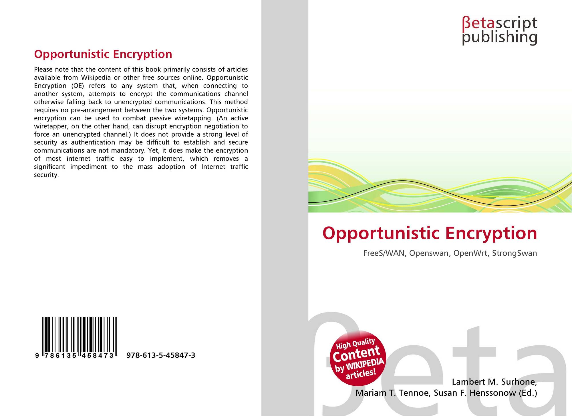bookcover of opportunistic encryption