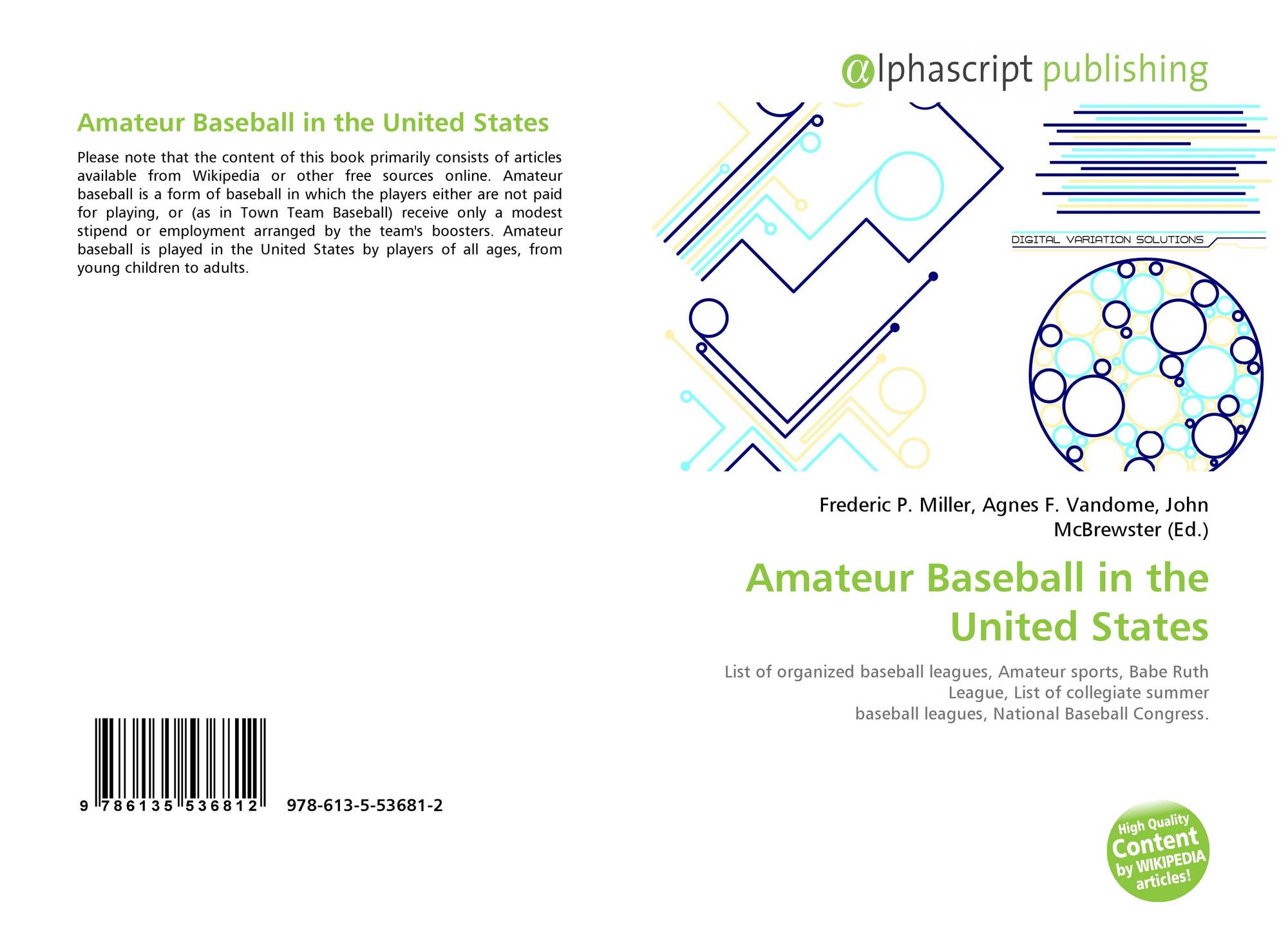 Amateur Baseball in the United States, 978-613-5-53681-2 ...