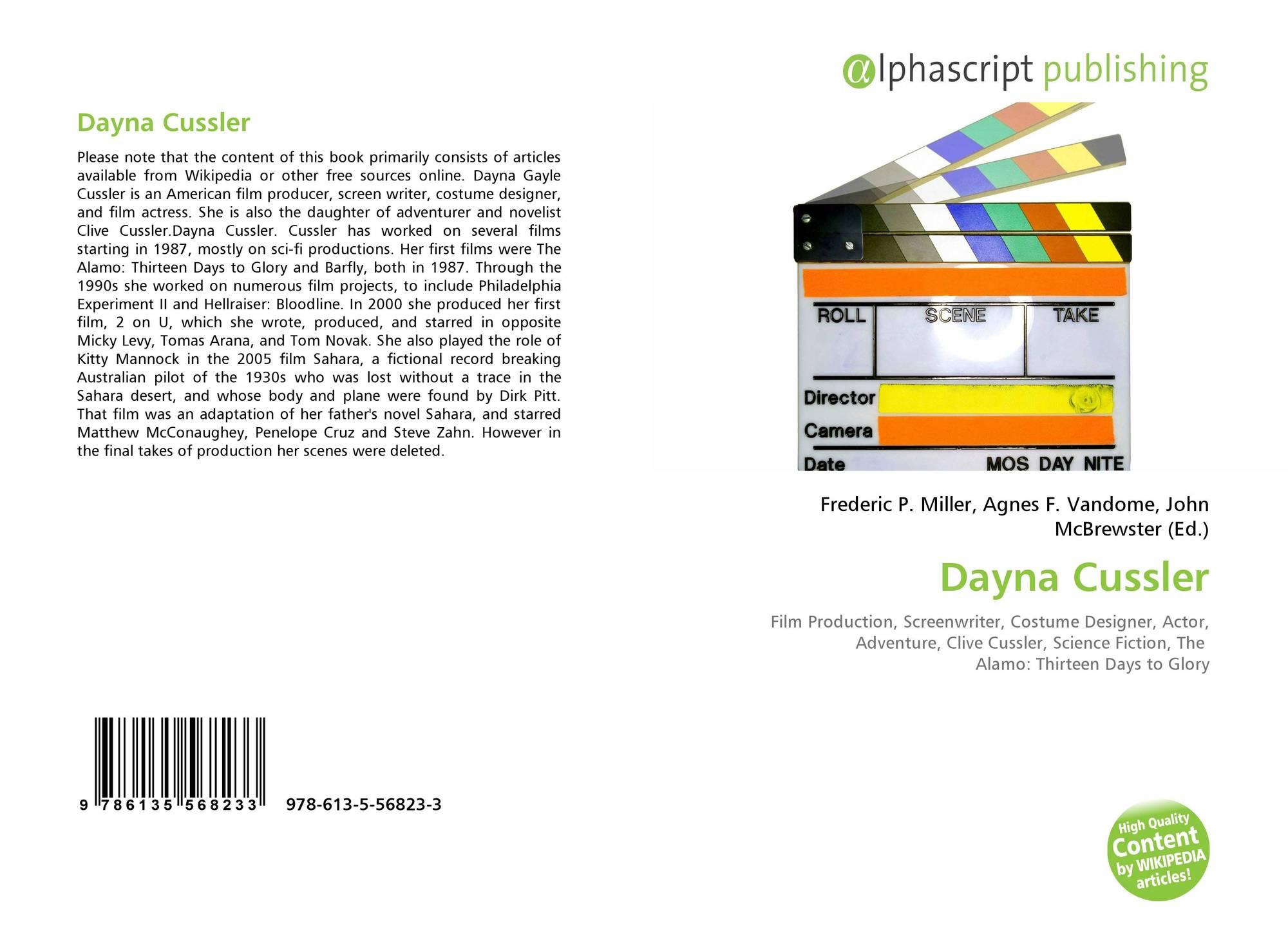 Dayna Cussler Net Worth