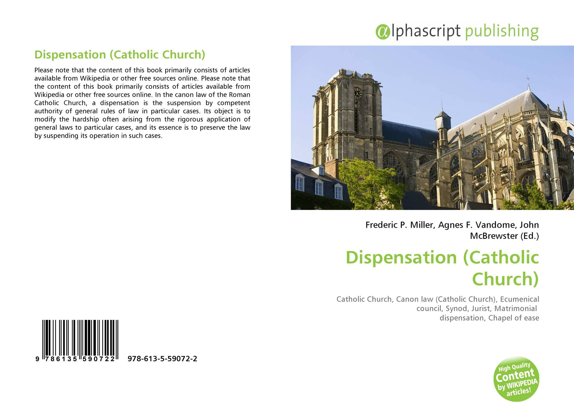 Dispensation (Catholic Church), 978-613-5-59072-2, 6135590723