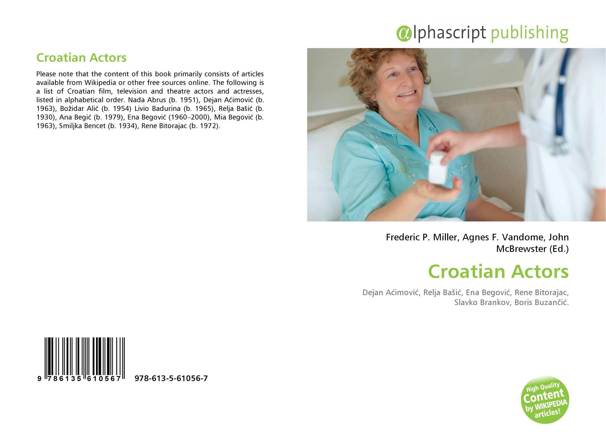 Ana Acimovic croatian actors, 978-613-5-61056-7, 6135610562 ,9786135610567