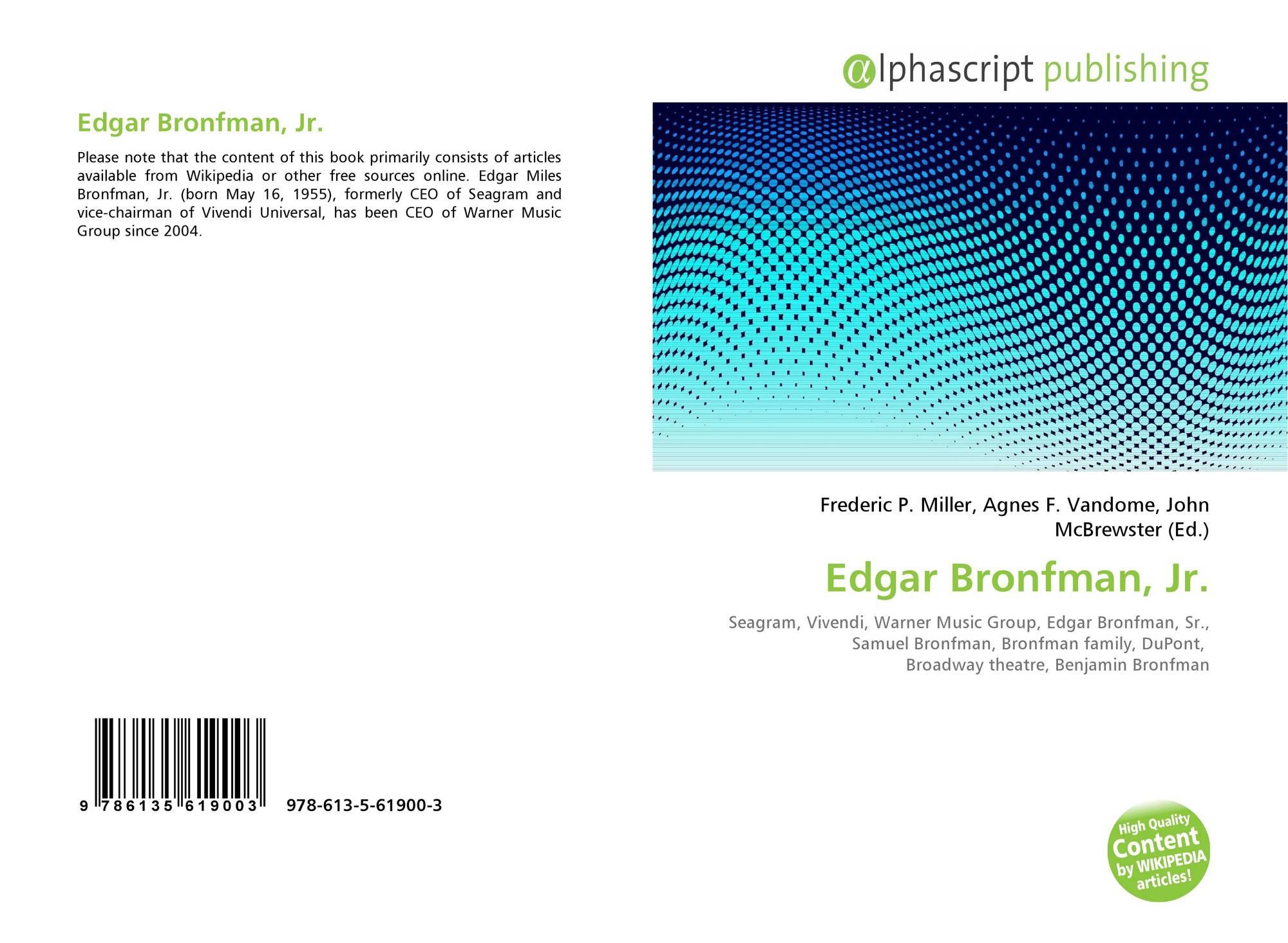 Edgar Bronfman, Jr , 978-613-5-61900-3, 6135619004