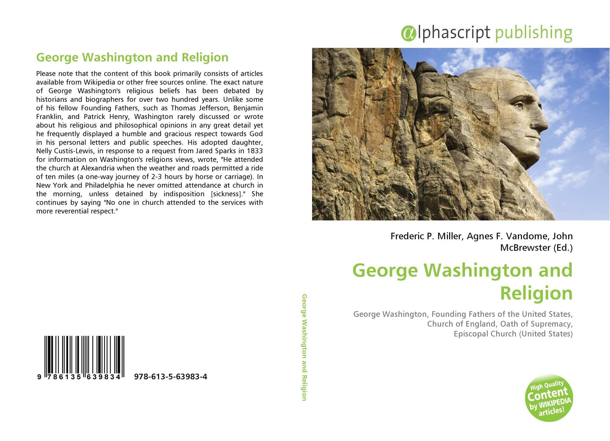 Portada del libro de George Washington and Religion