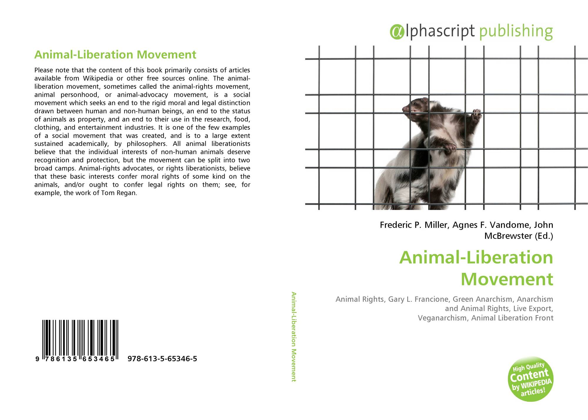 animal liberation essay example The author of the book animal liberation, as well as many animal rights activists  we can write a custom essay on  an animal's place essay sample.