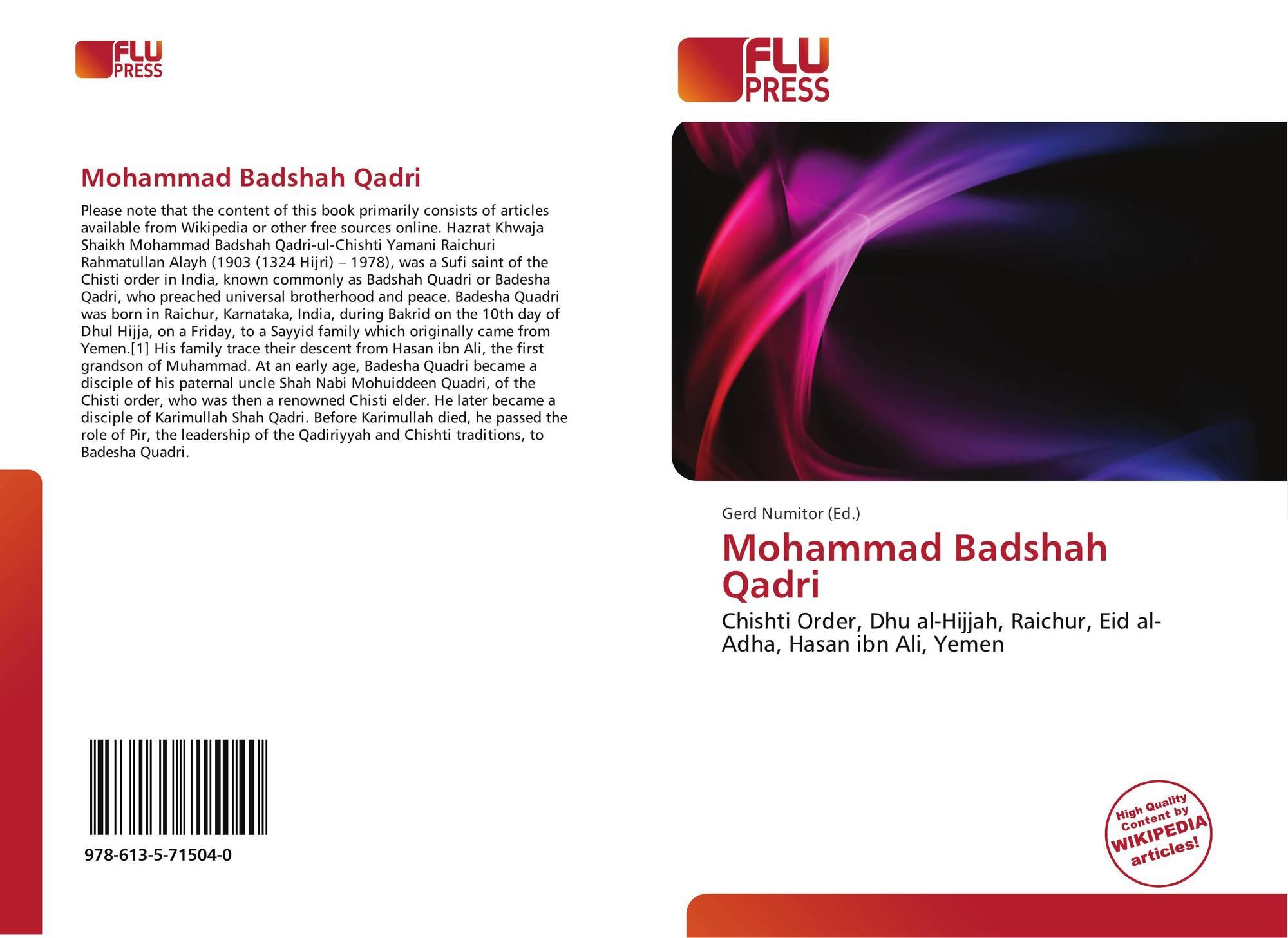 Mohammad Badshah Qadri, 978-613-5-71504-0, 6135715046