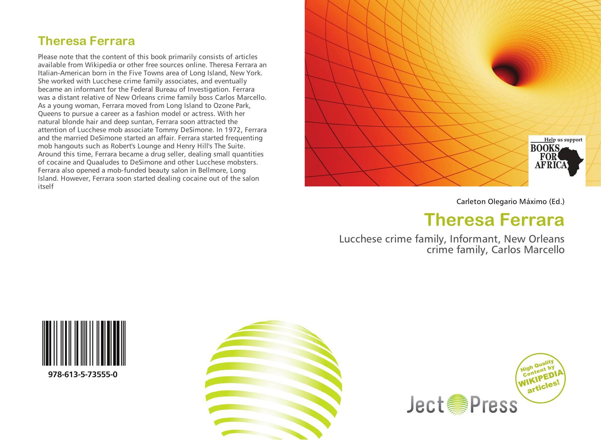 bookcover of theresa ferrara omni badge theresa ferrara lucchese crime family