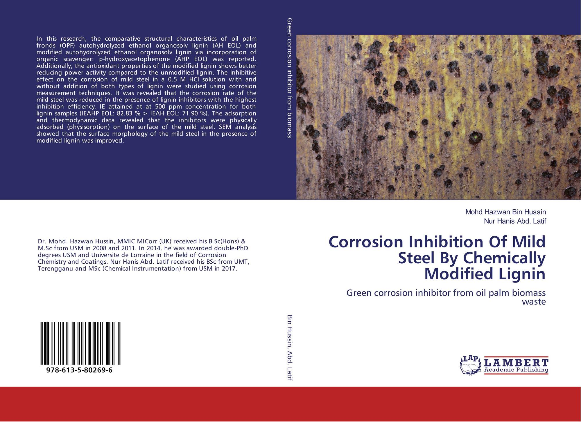 Corrosion Inhibition Of Mild Steel By Chemically Modified Lignin